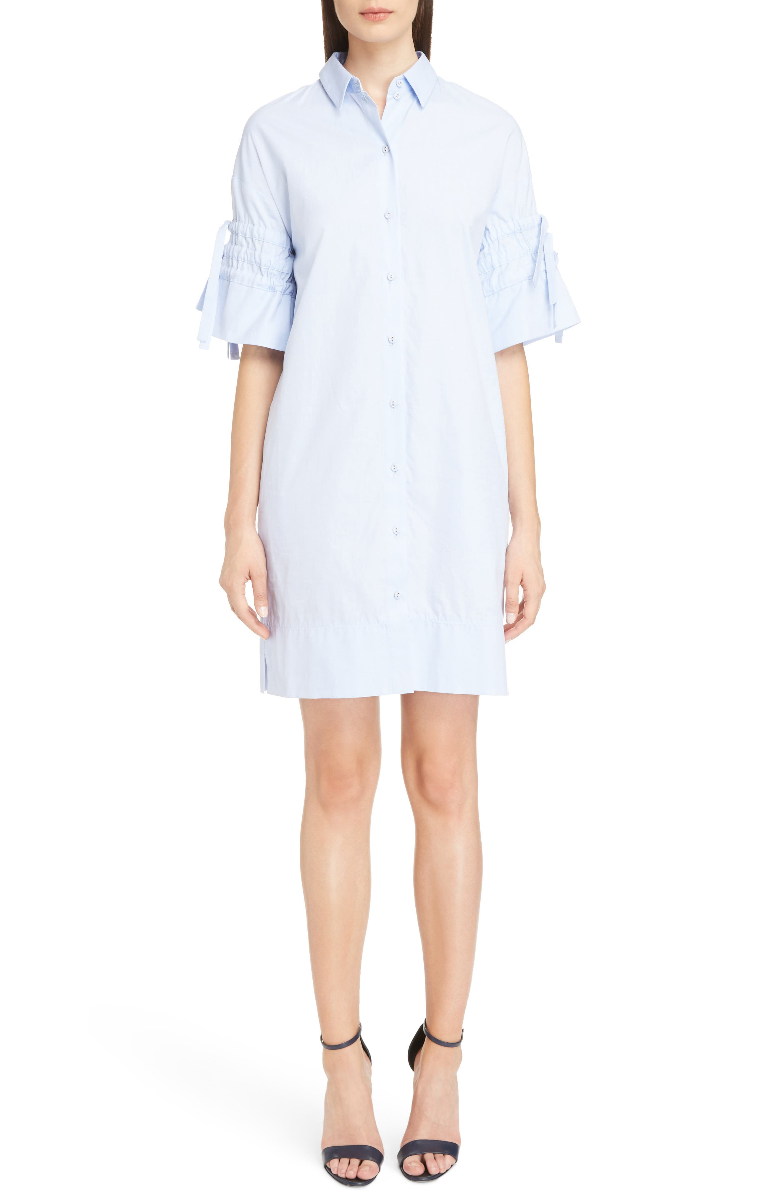 Alternate Image 1 Selected - Victoria Victoria Beckham Gathered Sleeve Shirtdress