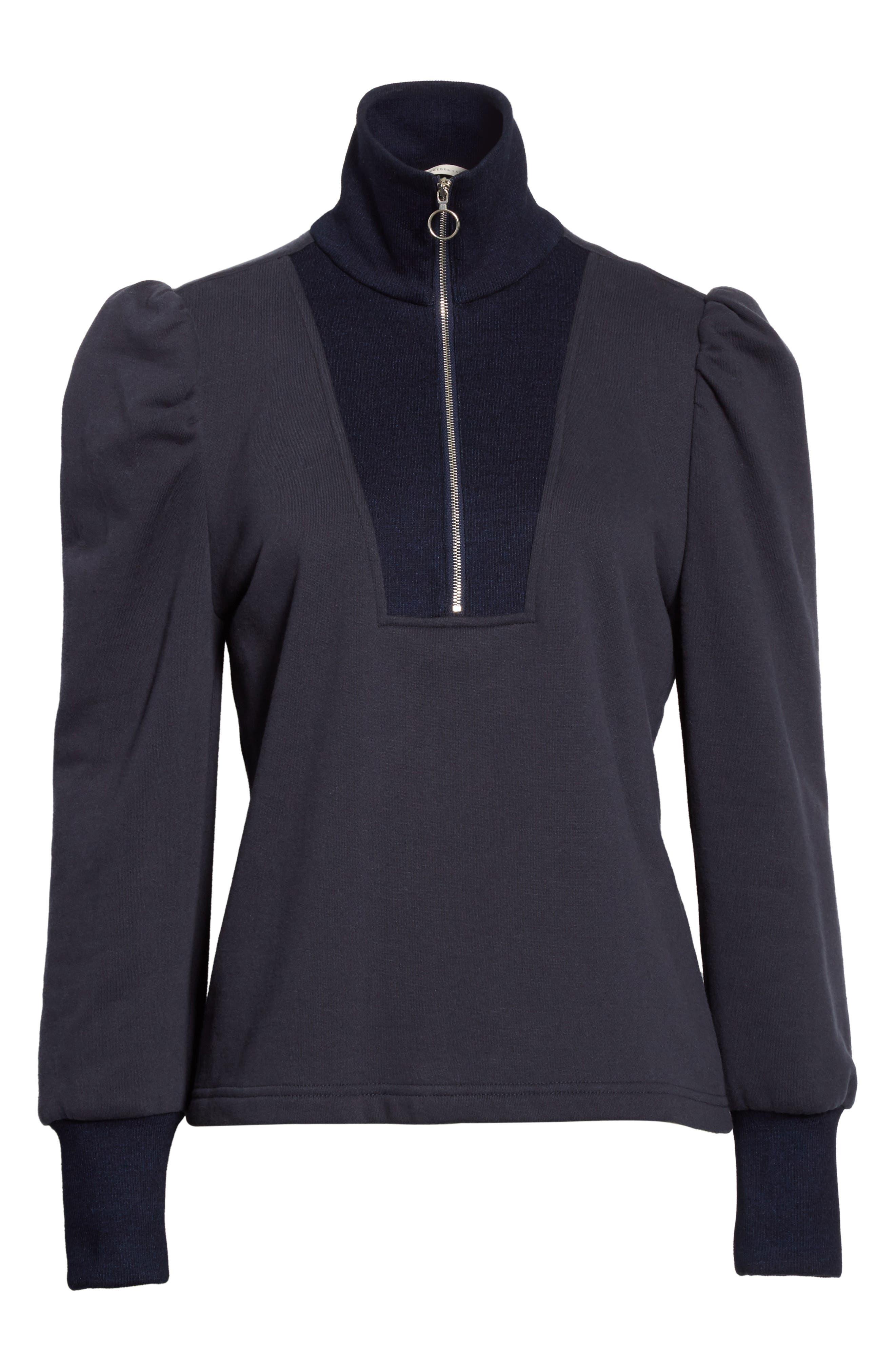 Alternate Image 6  - Rebecca Taylor Turtleneck Fleece Zip Pullover