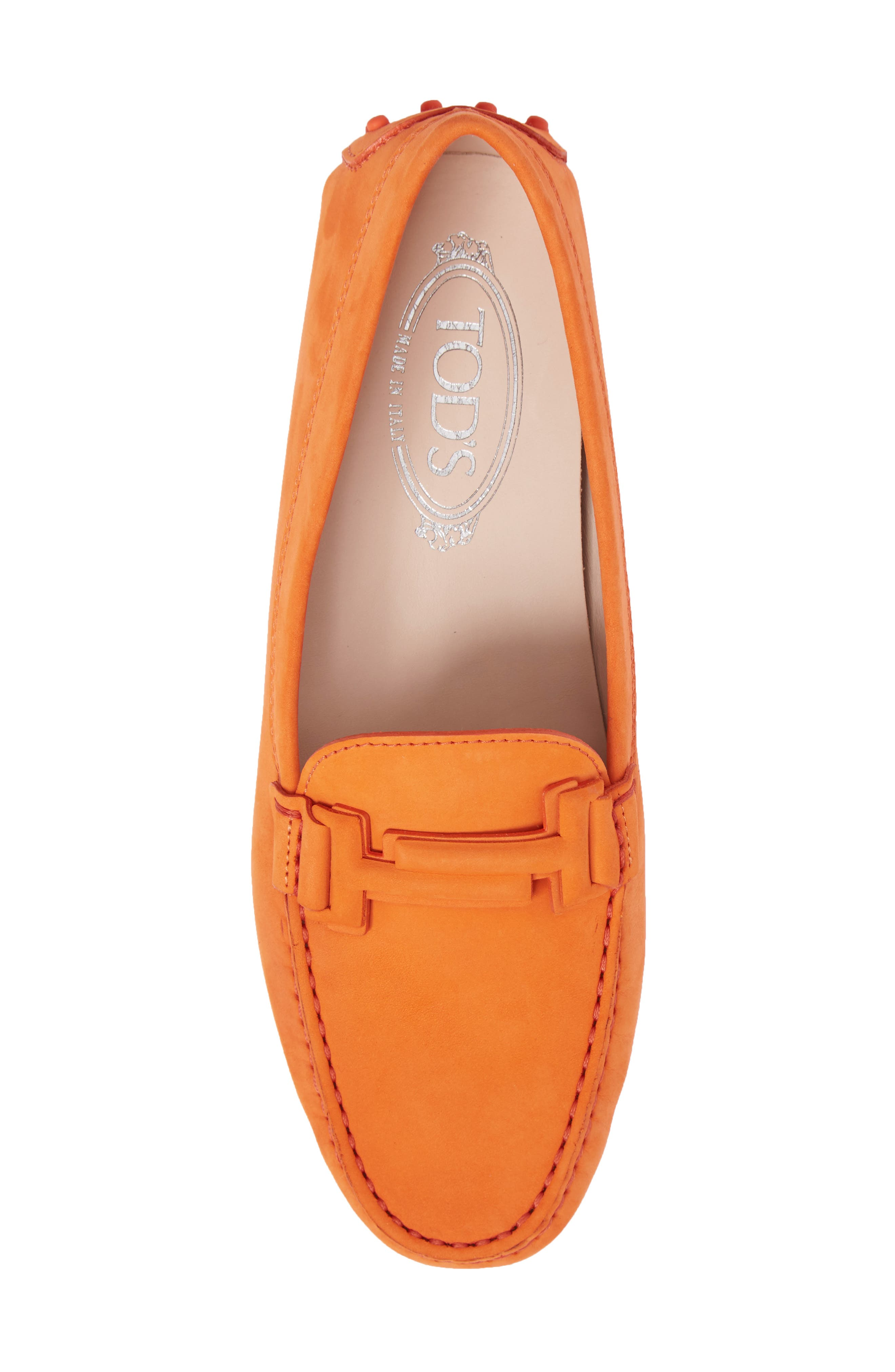 Gommini Covered Double T Loafer,                             Alternate thumbnail 5, color,                             Orange