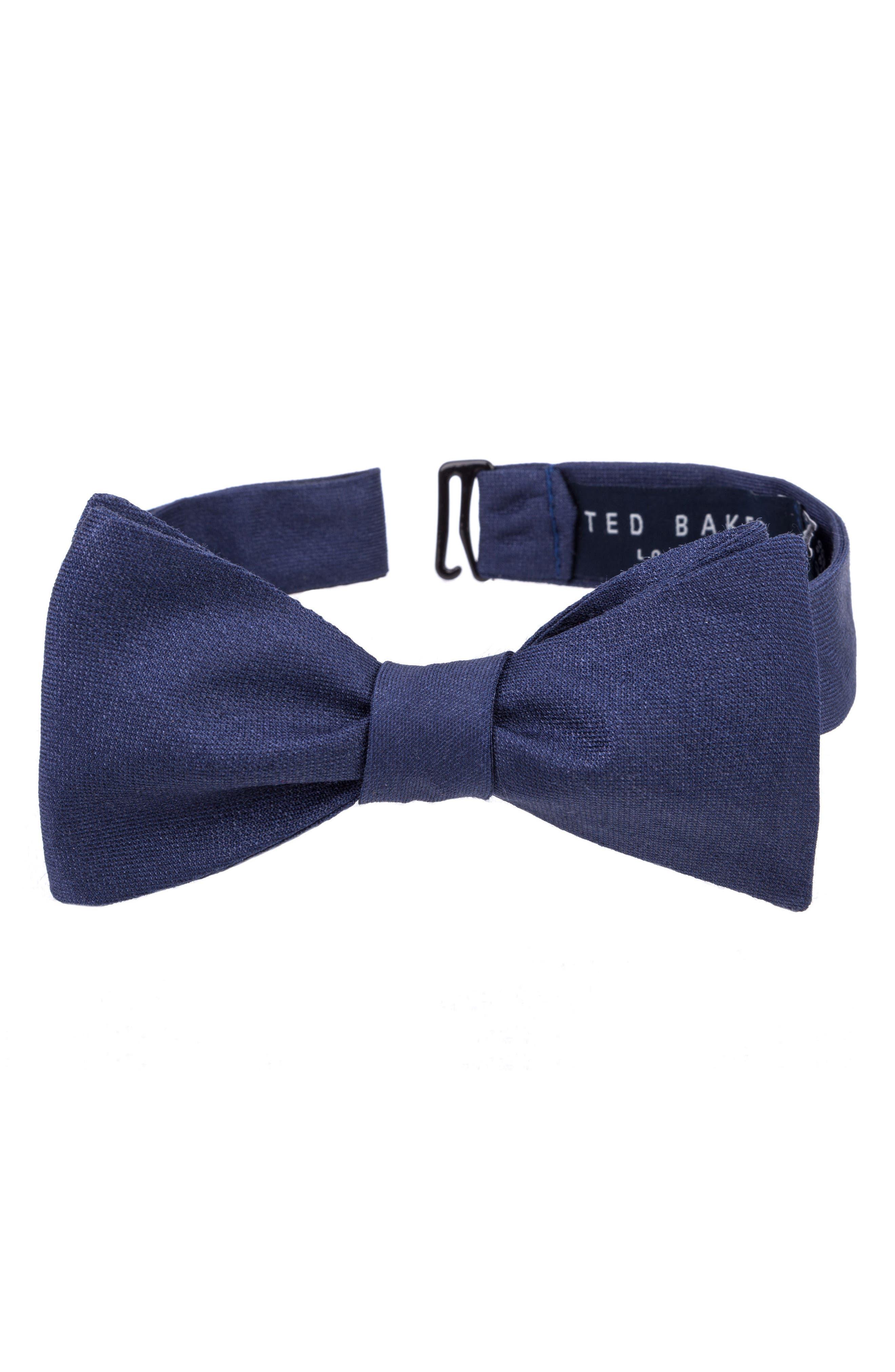 Indigo Wardrobe Silk Bow Tie,                         Main,                         color, Indigo
