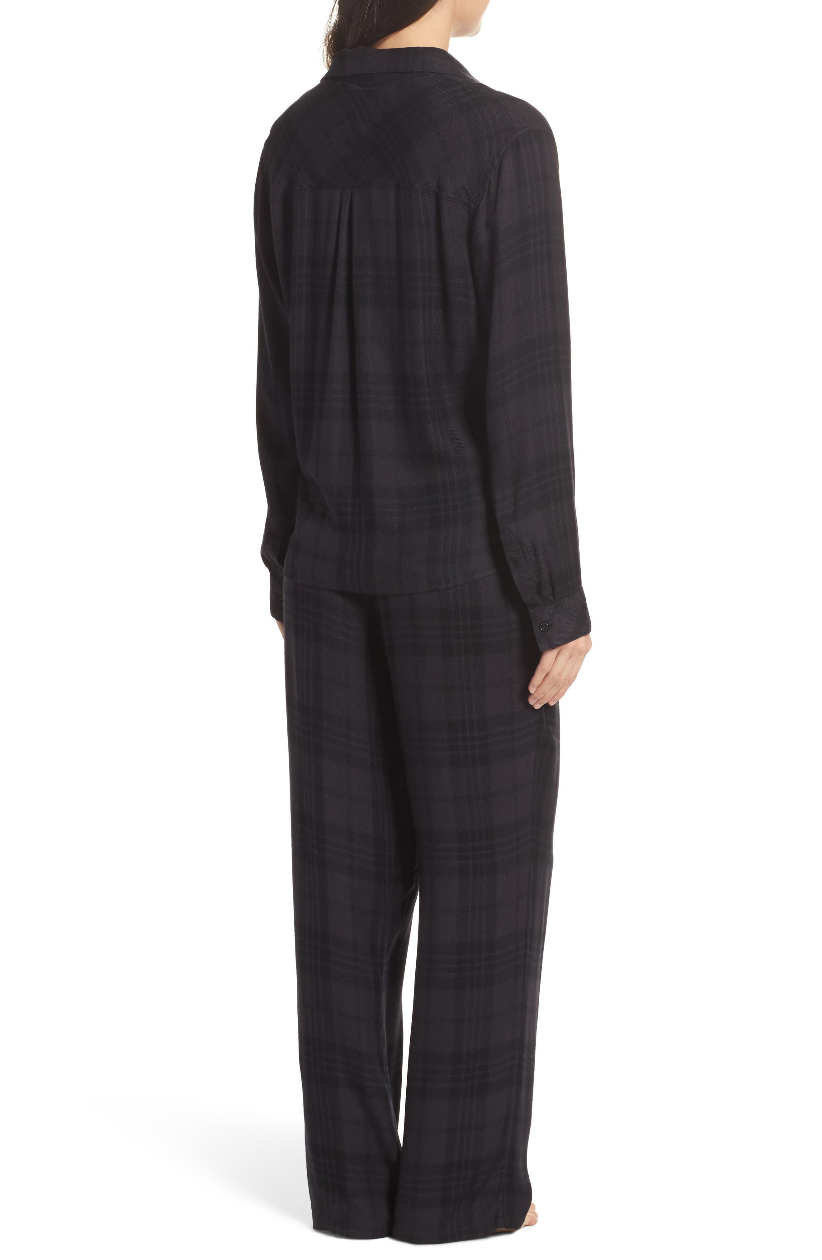 Plaid Pajamas,                             Alternate thumbnail 2, color,                             Onyx/ Jet