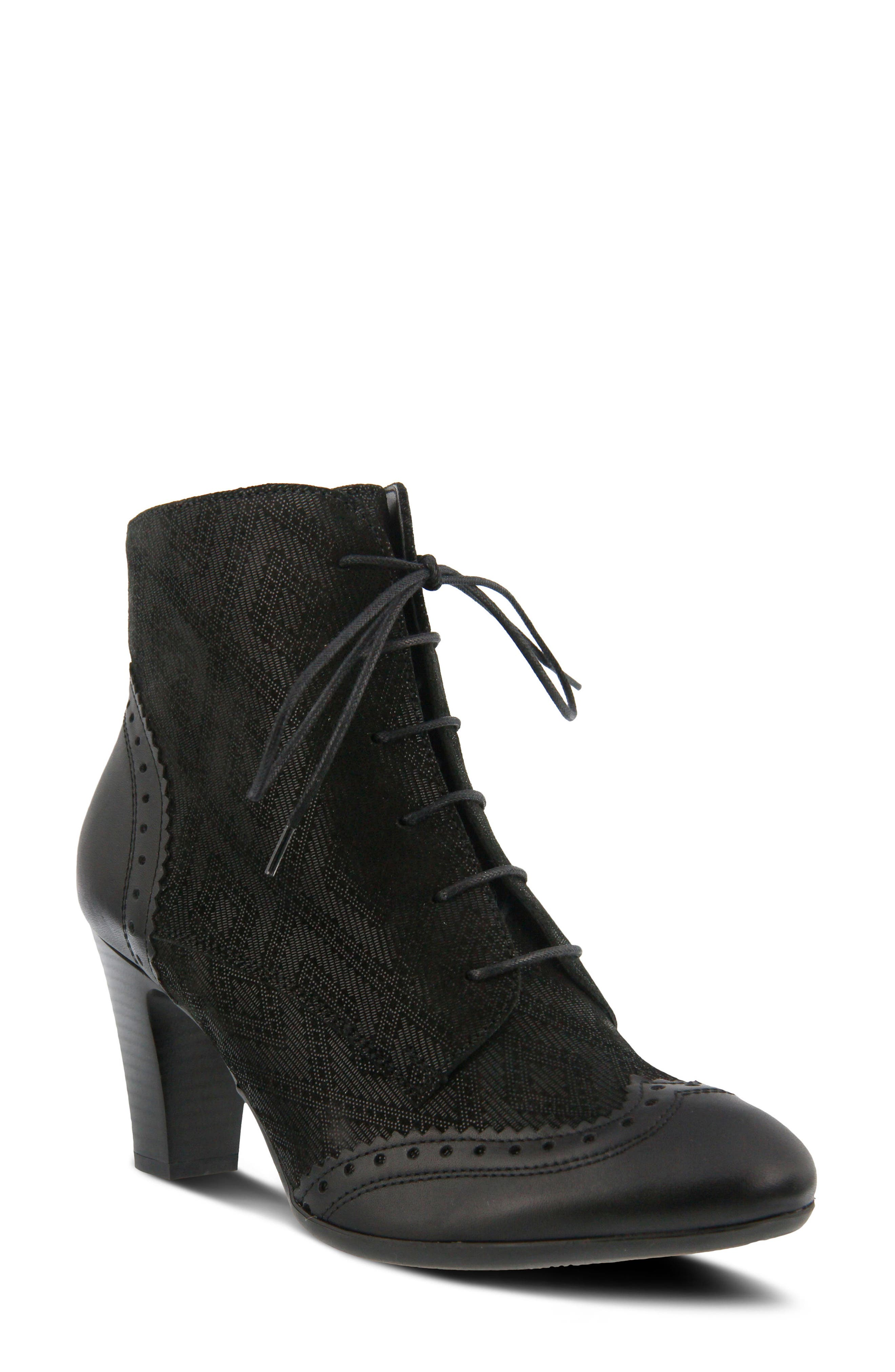 Alternate Image 1 Selected - Spring Step Gem Lace-Up Bootie (Women)