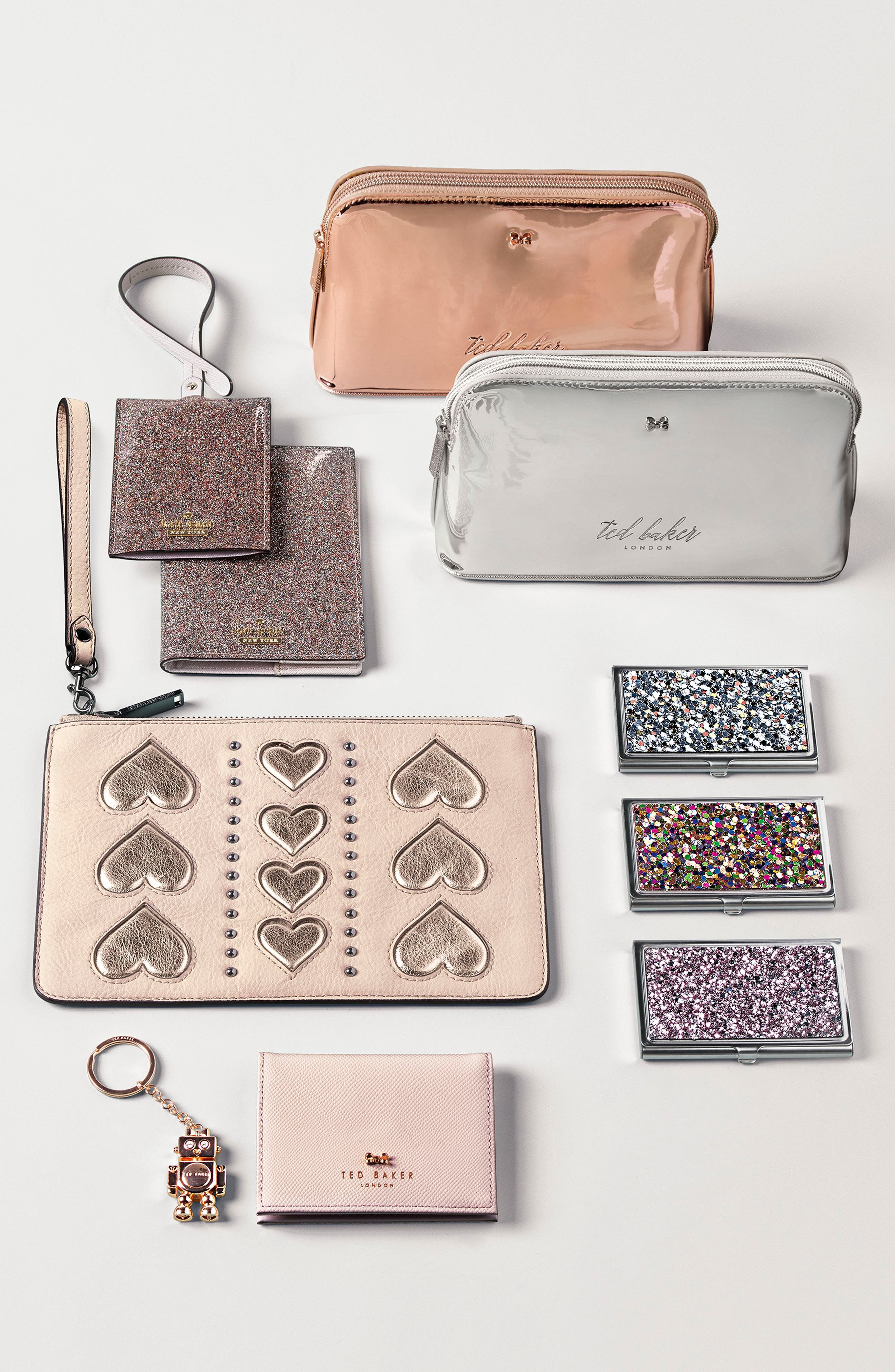 Alternate Image 4  - Ted Baker London Leather Card Case with Robot Key Chain
