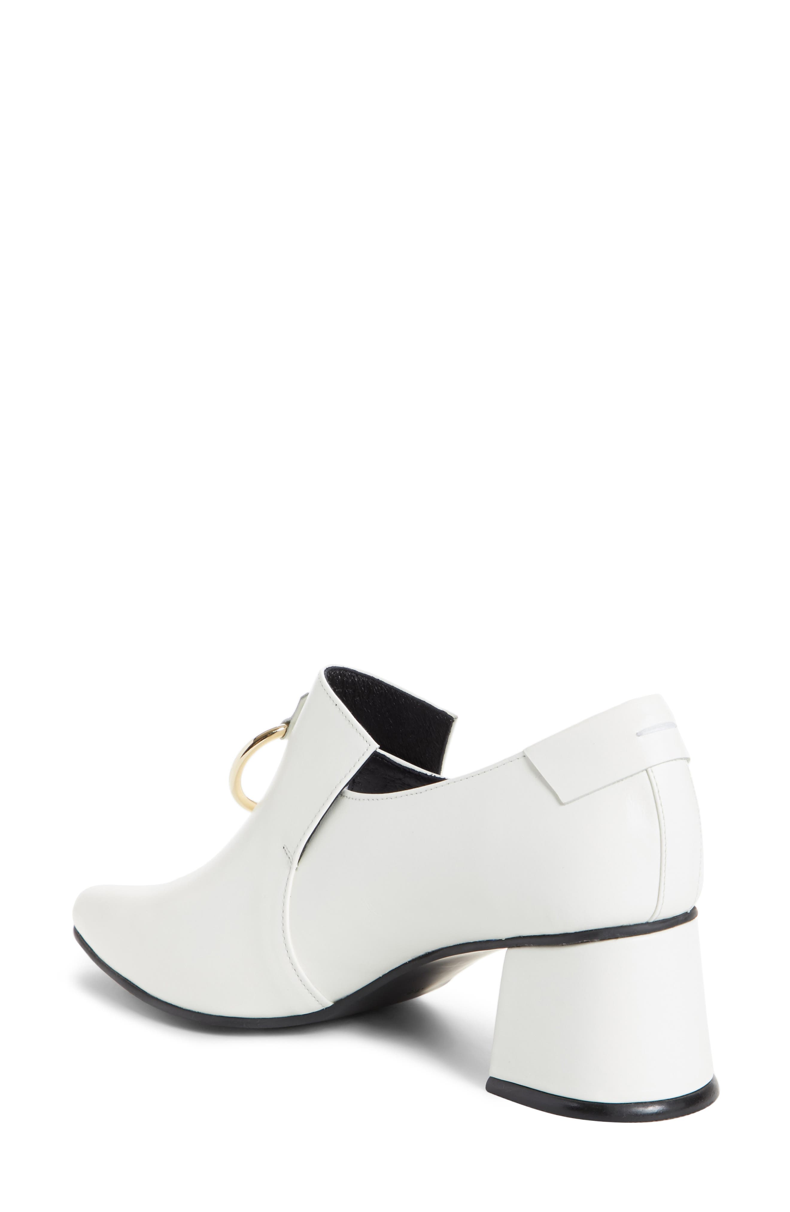 Ring Middle Loafer Pump,                             Alternate thumbnail 2, color,                             White