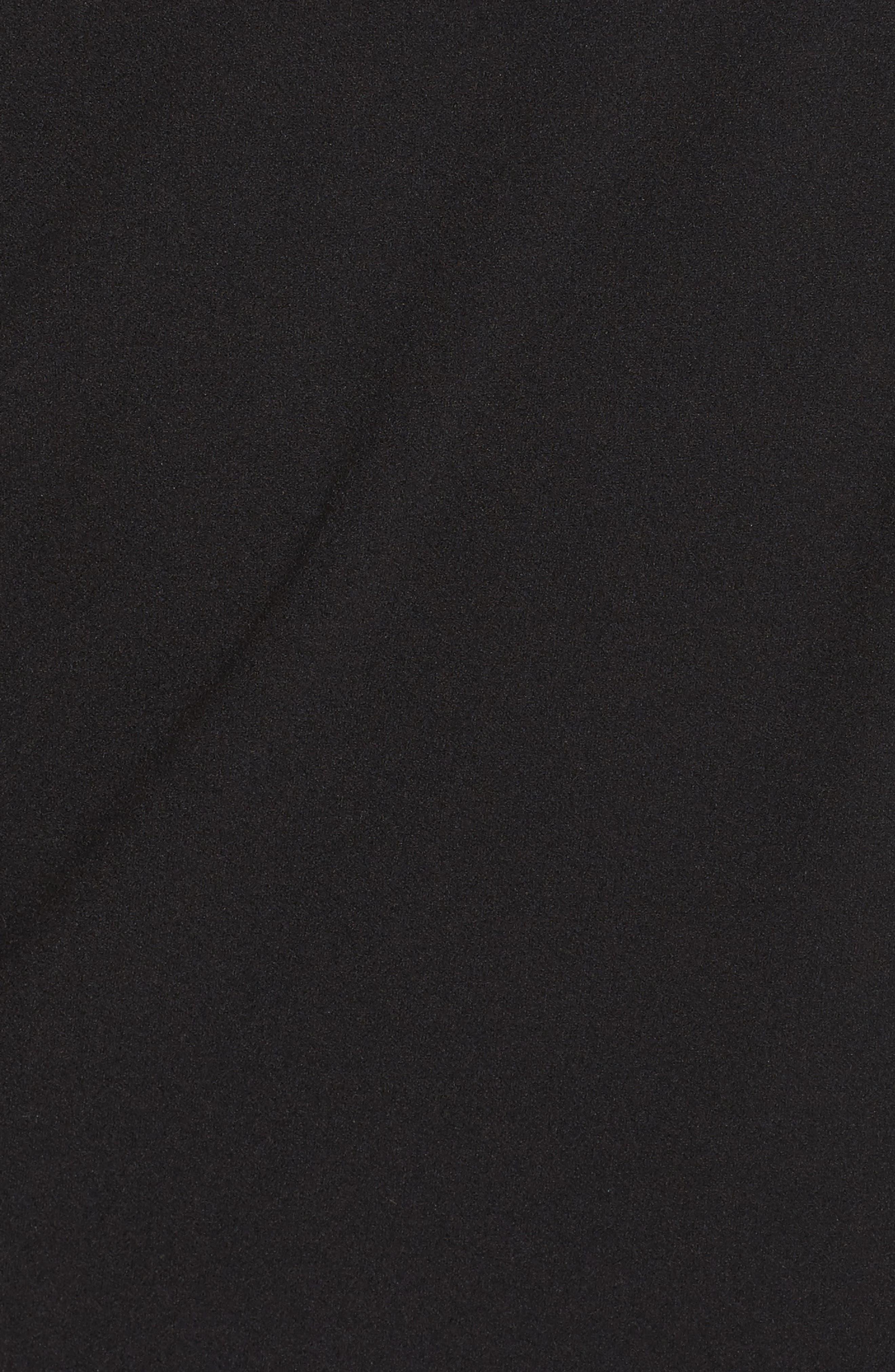 Beaded One-Shoulder Crepe Gown,                             Alternate thumbnail 5, color,                             Black