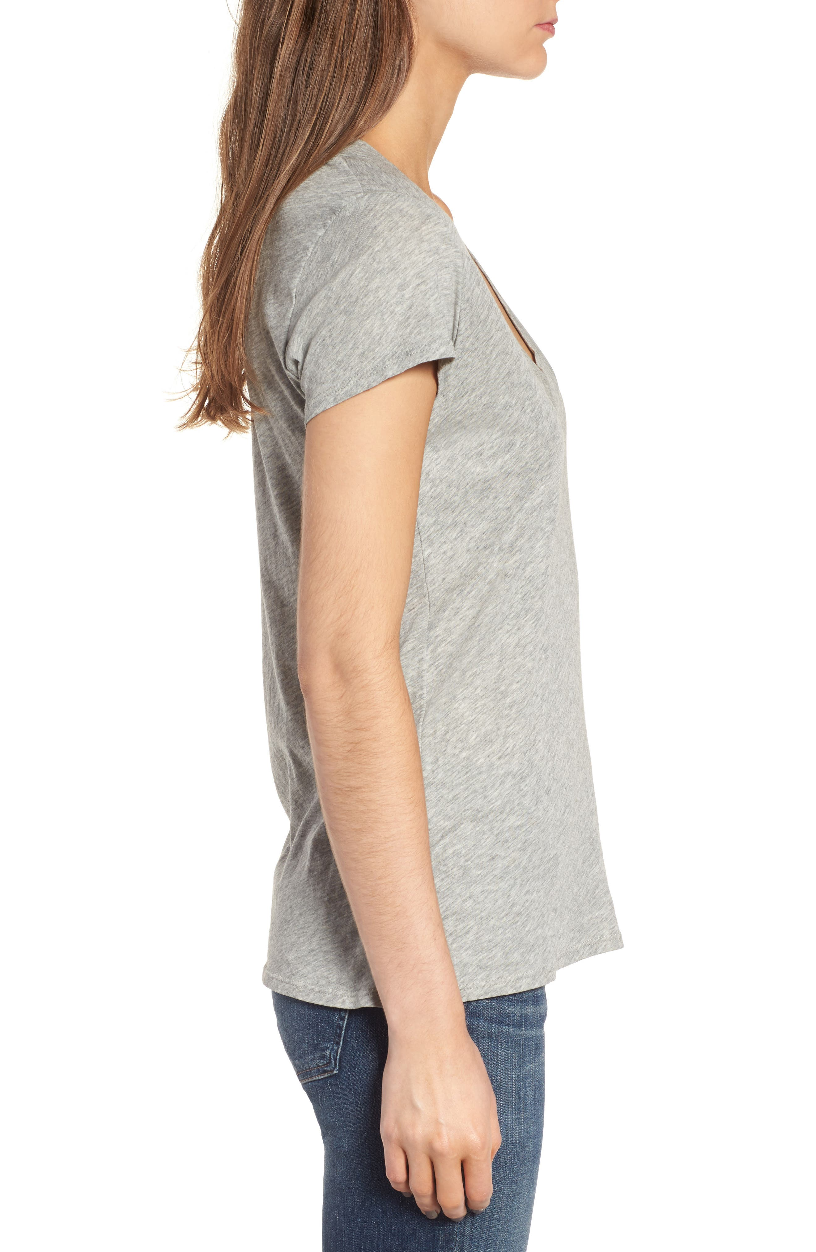 Alternate Image 3  - James Perse Relaxed V-Neck Tee