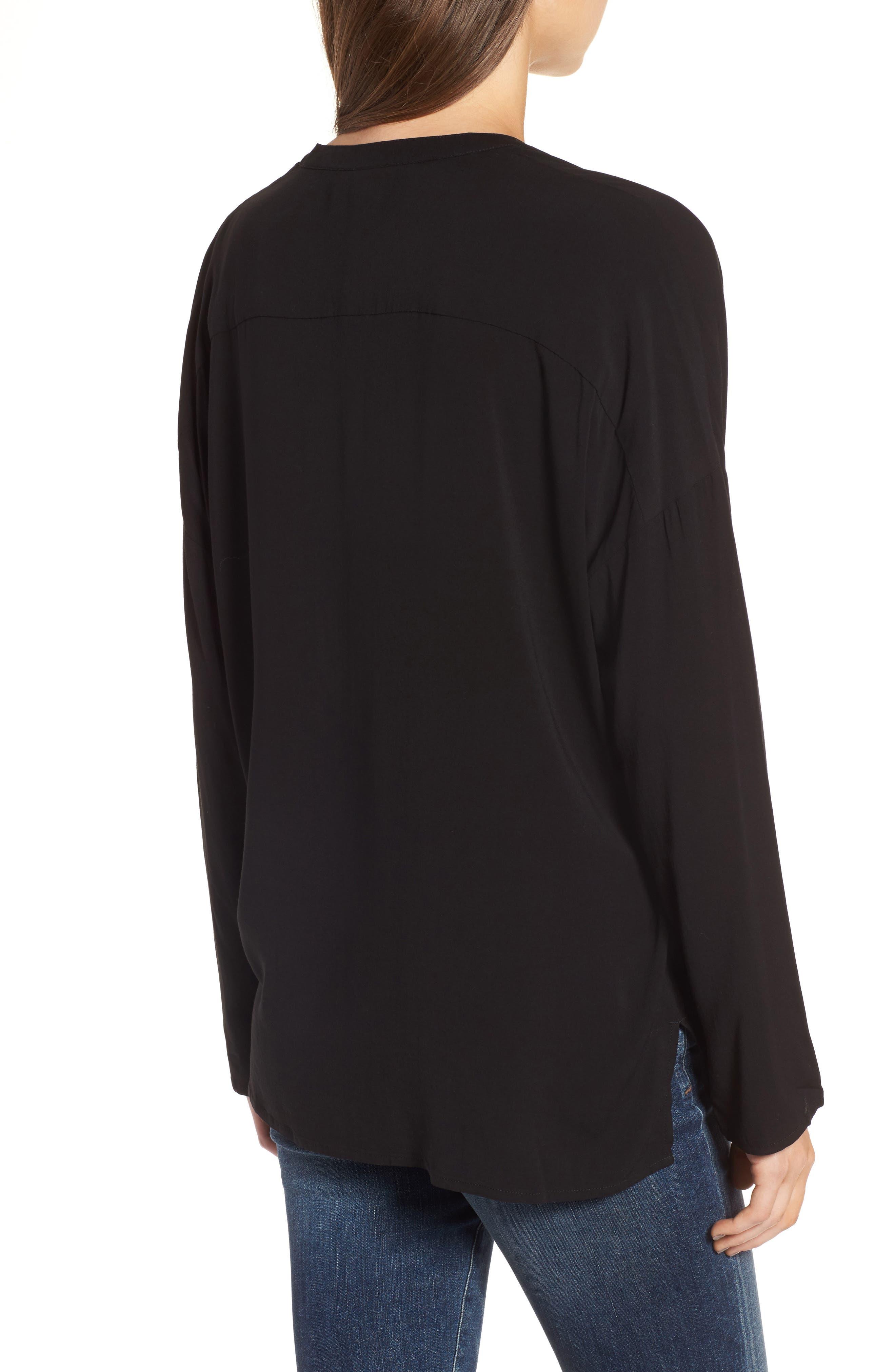 Relaxed Shirt,                             Alternate thumbnail 2, color,                             Black