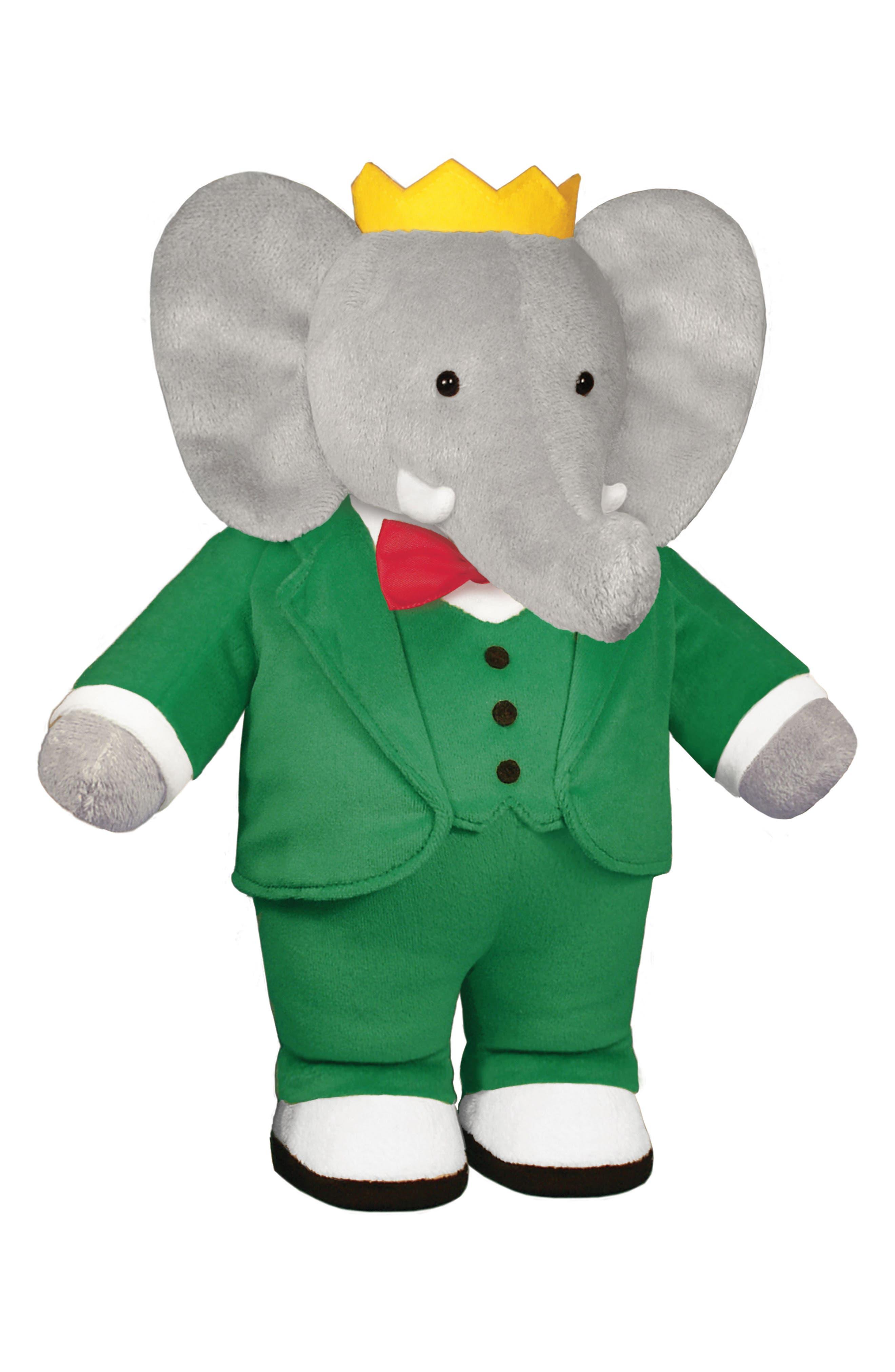 Babar Stuffed Toy,                             Main thumbnail 1, color,                             Green