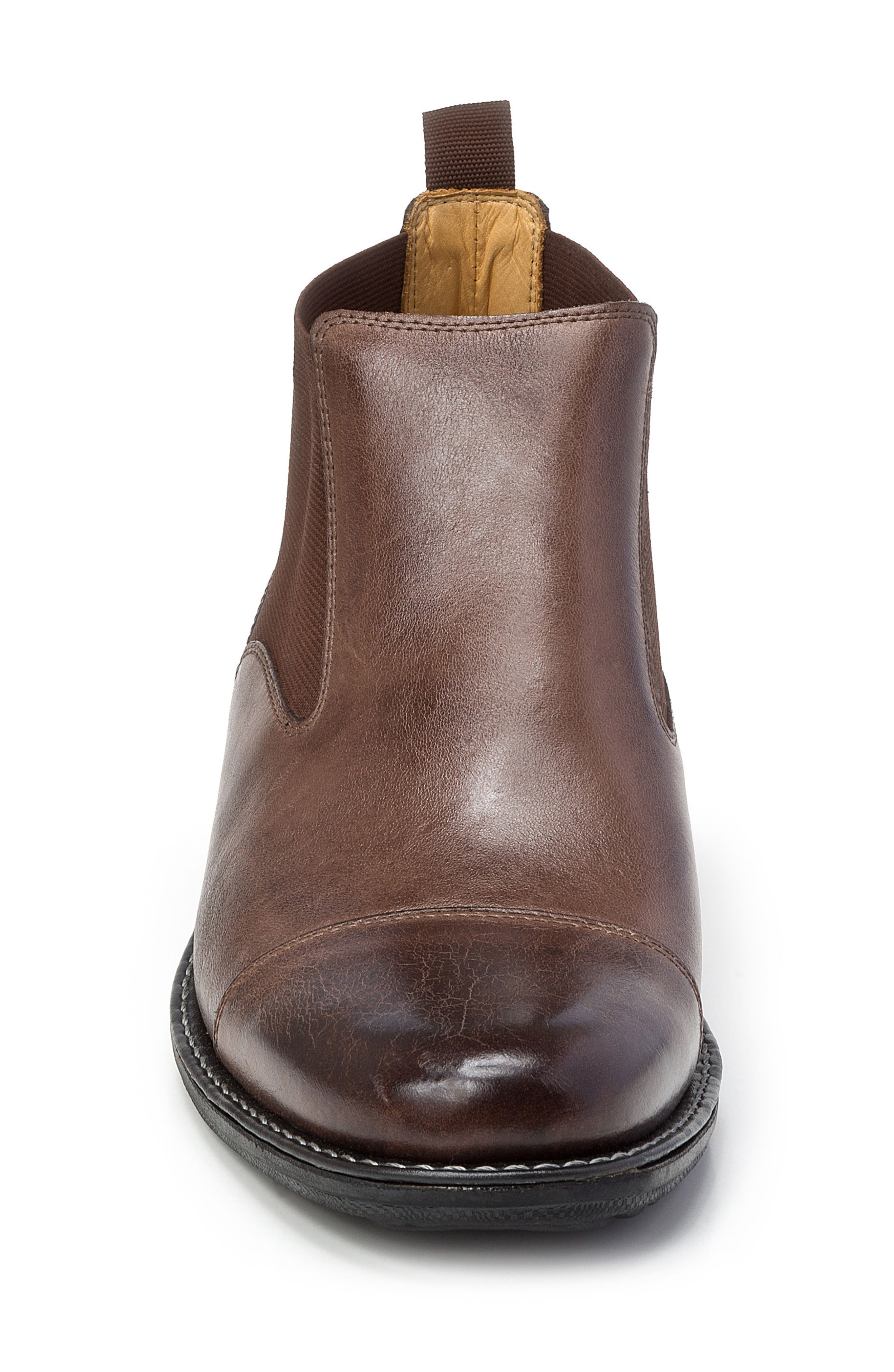 Norbert Chelsea Boot,                             Alternate thumbnail 4, color,                             Brown Leather