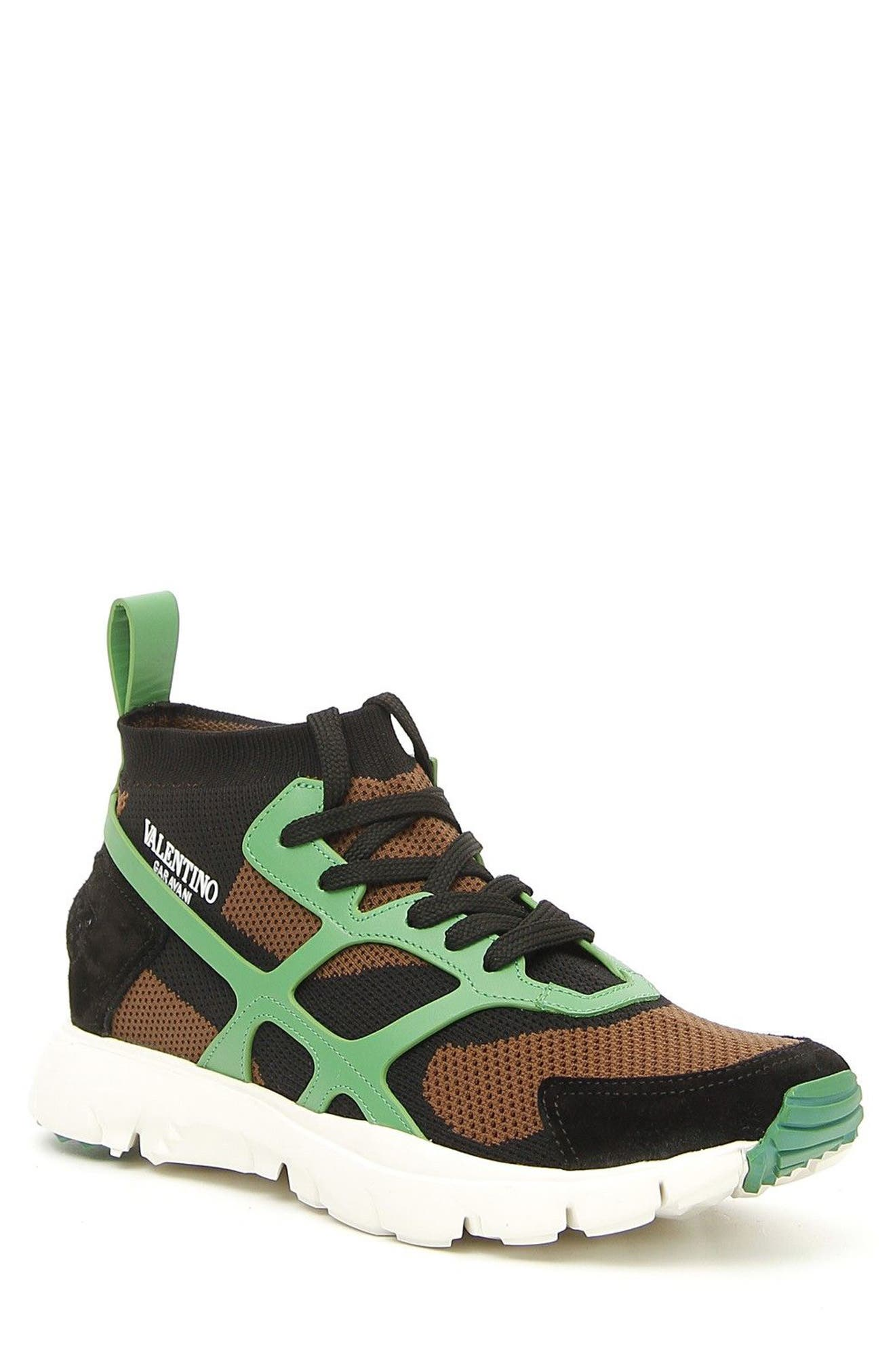 Sound High Sneaker,                             Main thumbnail 1, color,                             Army Green/ Nero/ Green