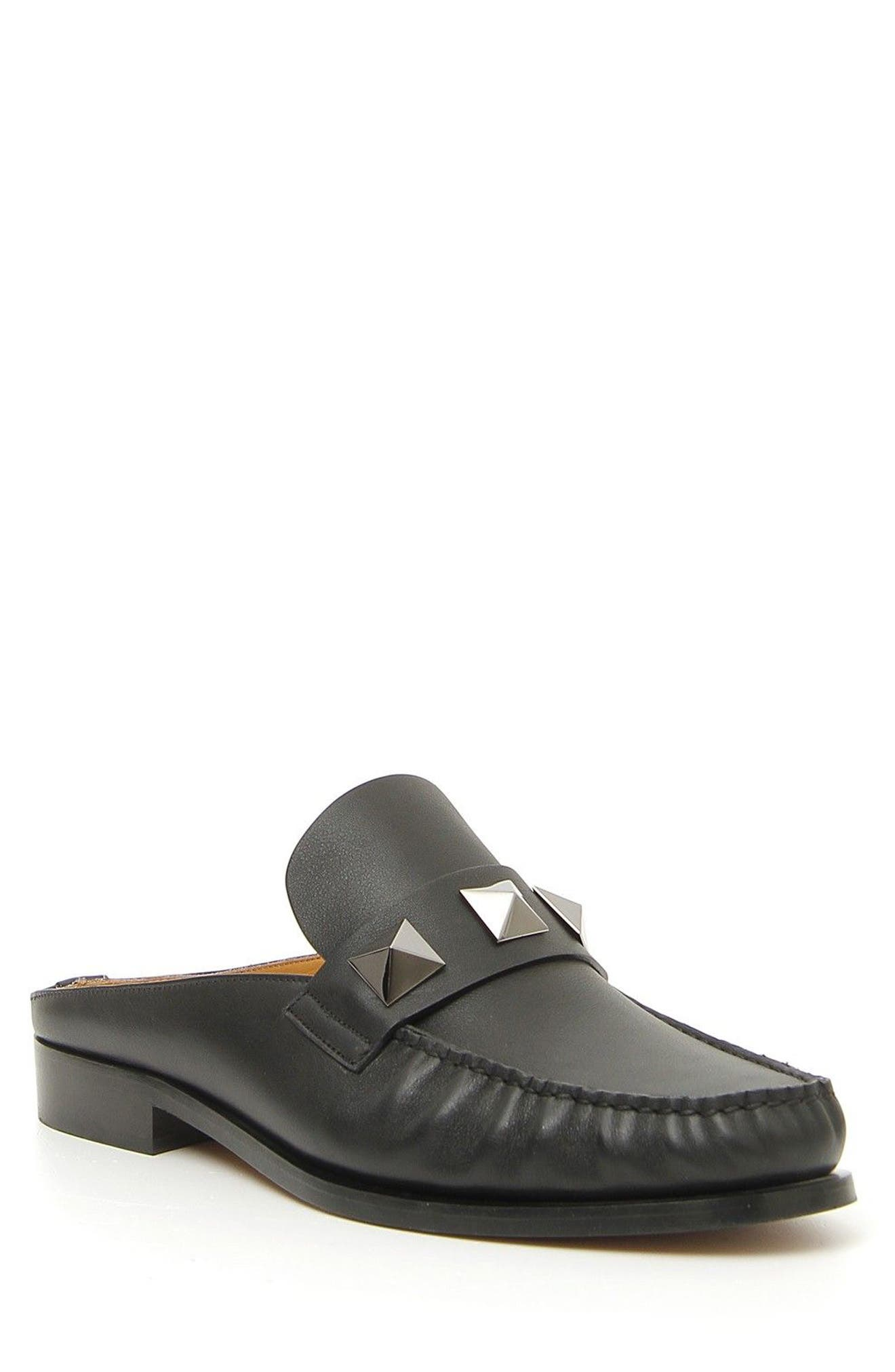 Lock Loafer Mule,                             Main thumbnail 1, color,                             Nero