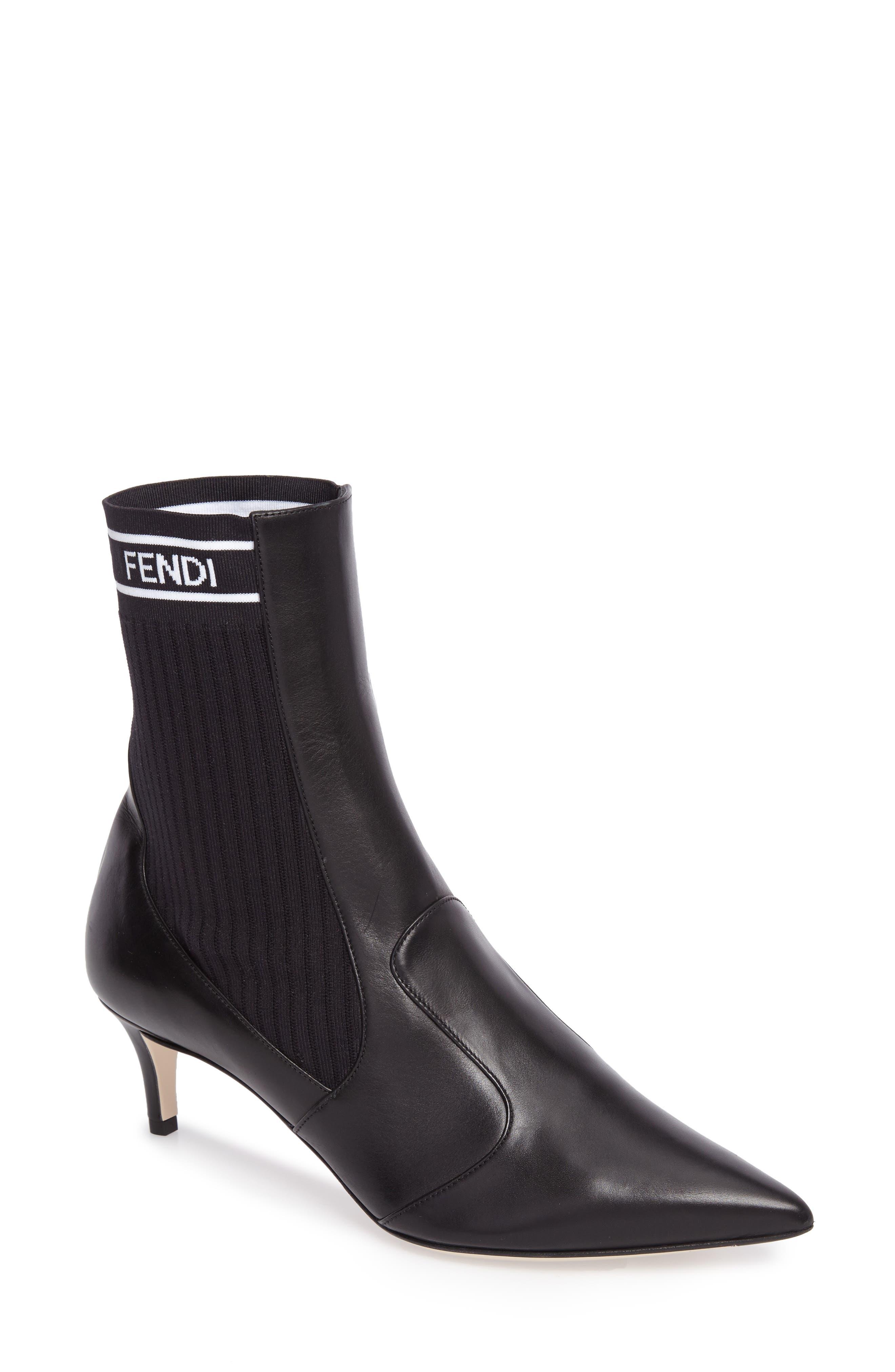 Main Image - Fendi Rockoko Chelsea Sock Boot (Women)