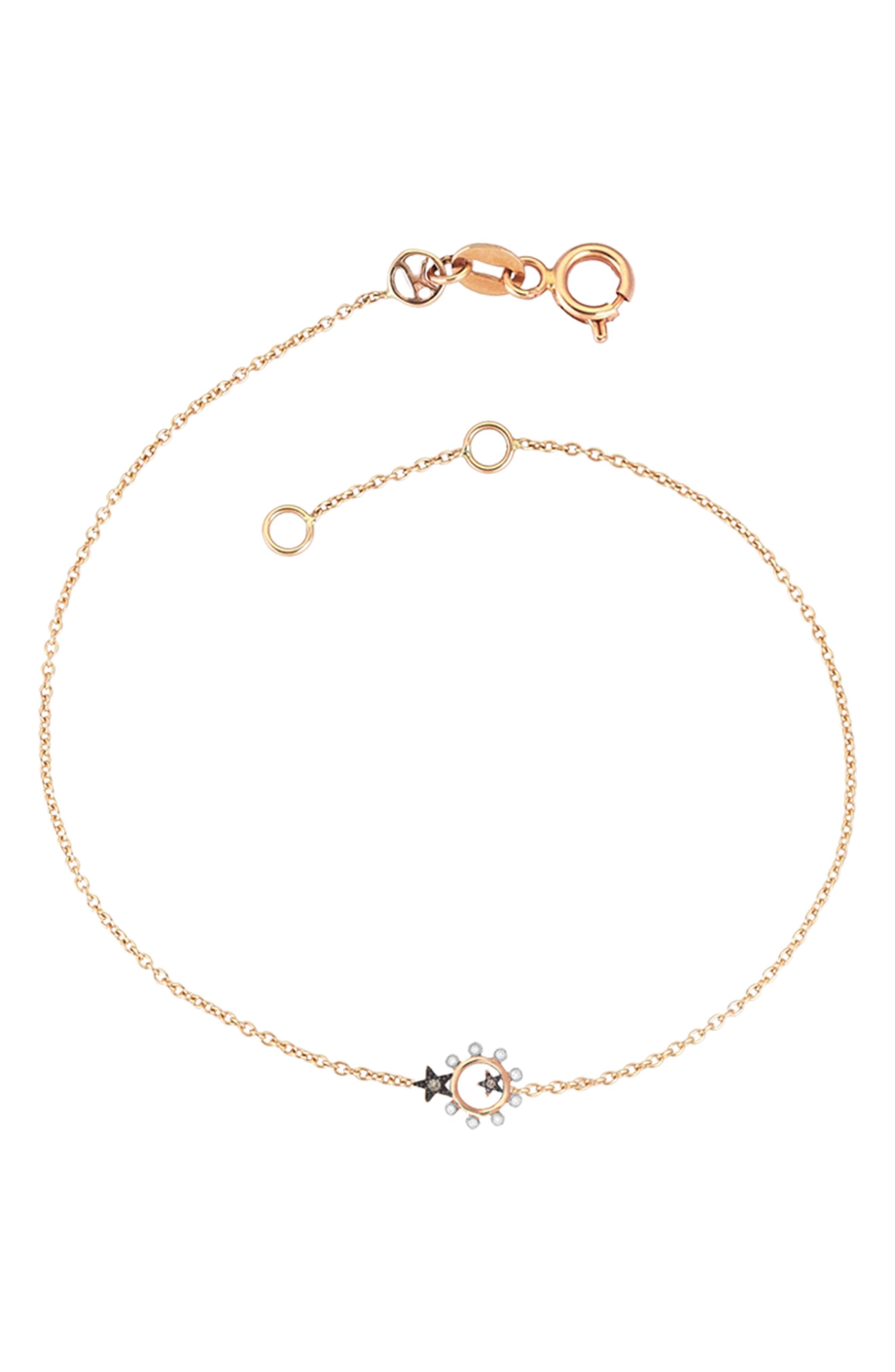 Eclectic Star Bracelet,                         Main,                         color, Rose Gold