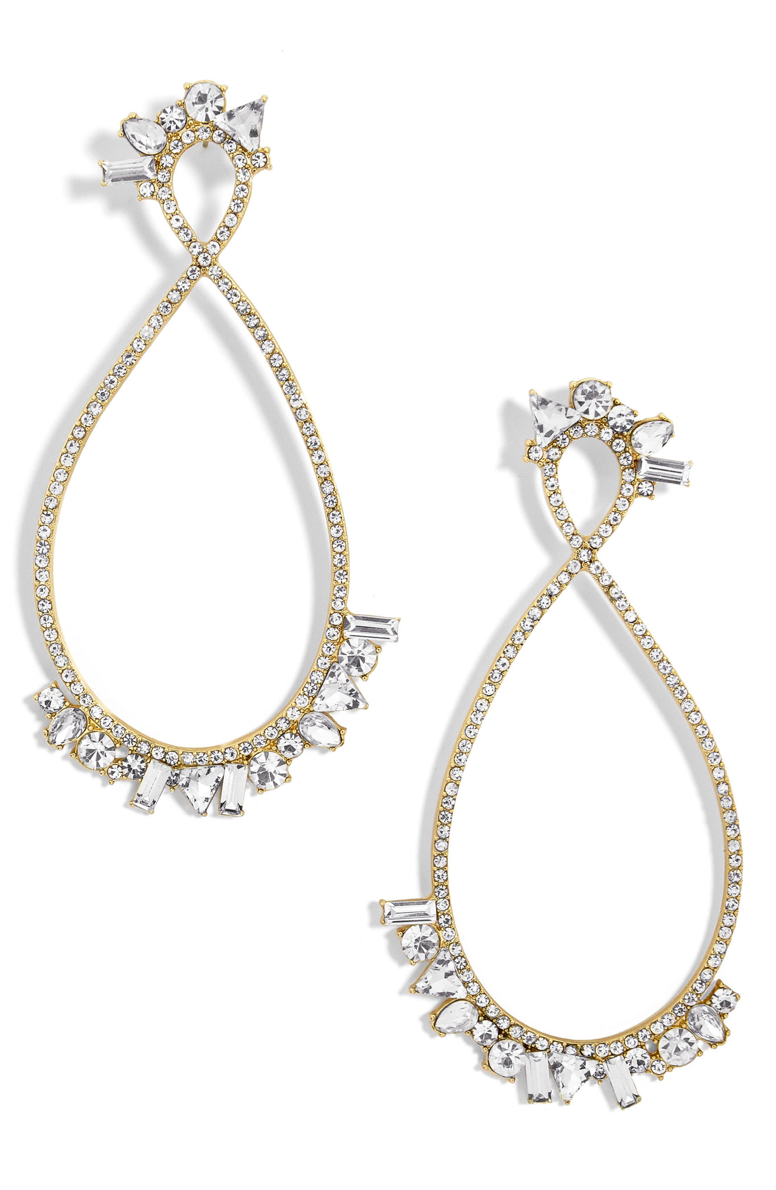 Main Image - BaubleBar Anastasia Hoop Earrings