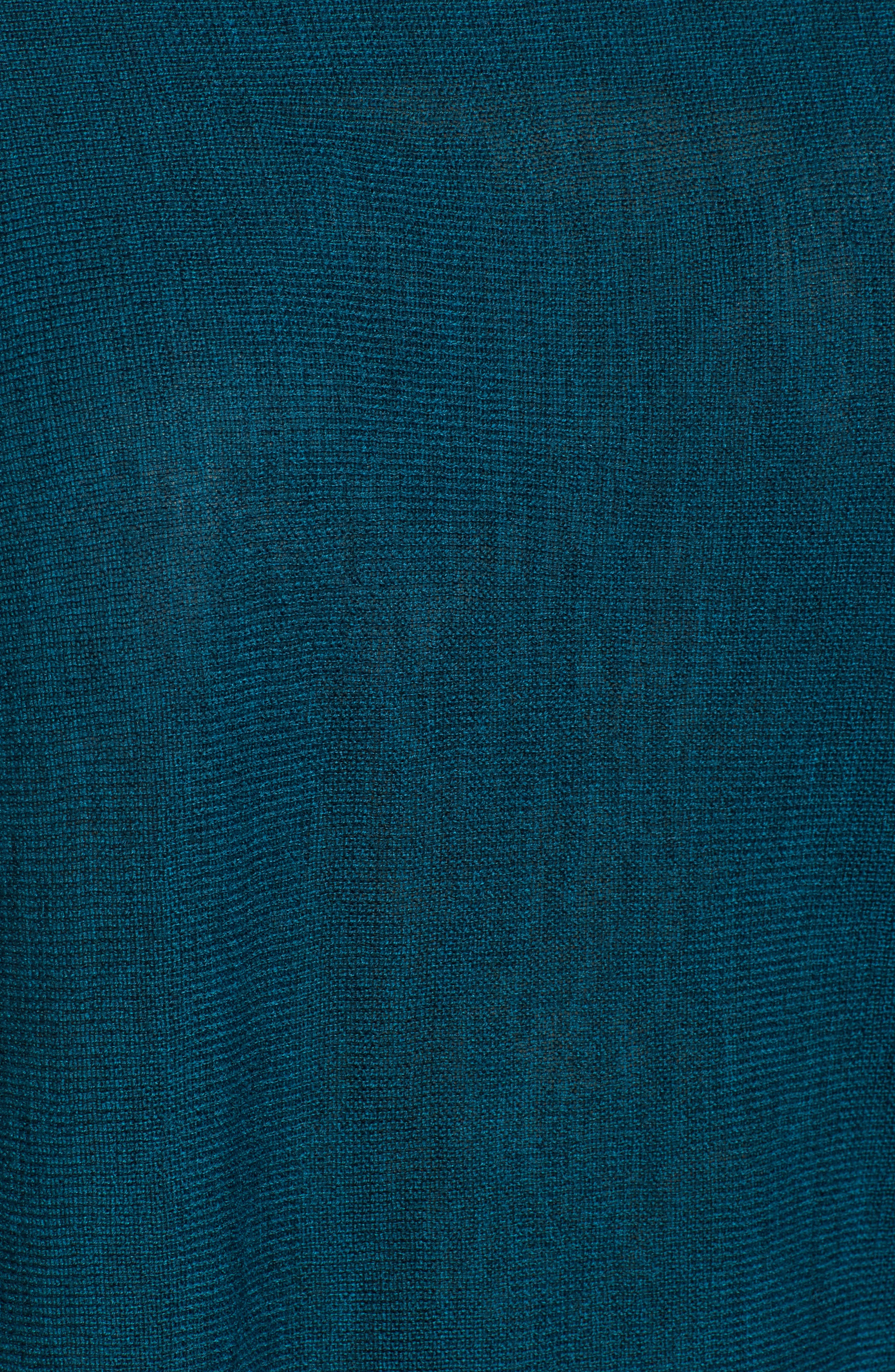 Merino Wool Tunic Sweater,                             Alternate thumbnail 5, color,                             Blue Spruce