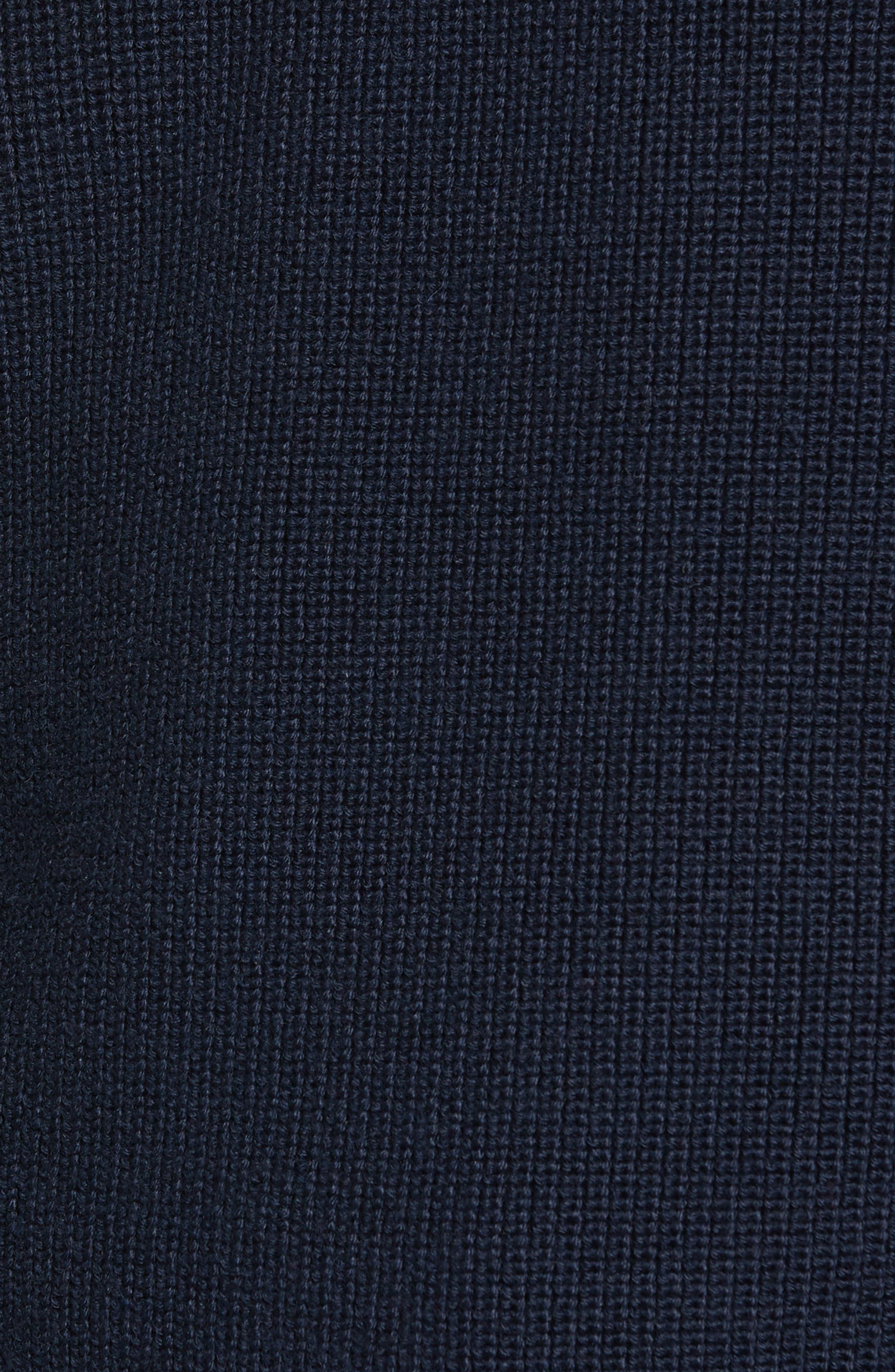 Alternate Image 5  - Nordstrom Men's Shop Ribbed Quarter Zip Sweater