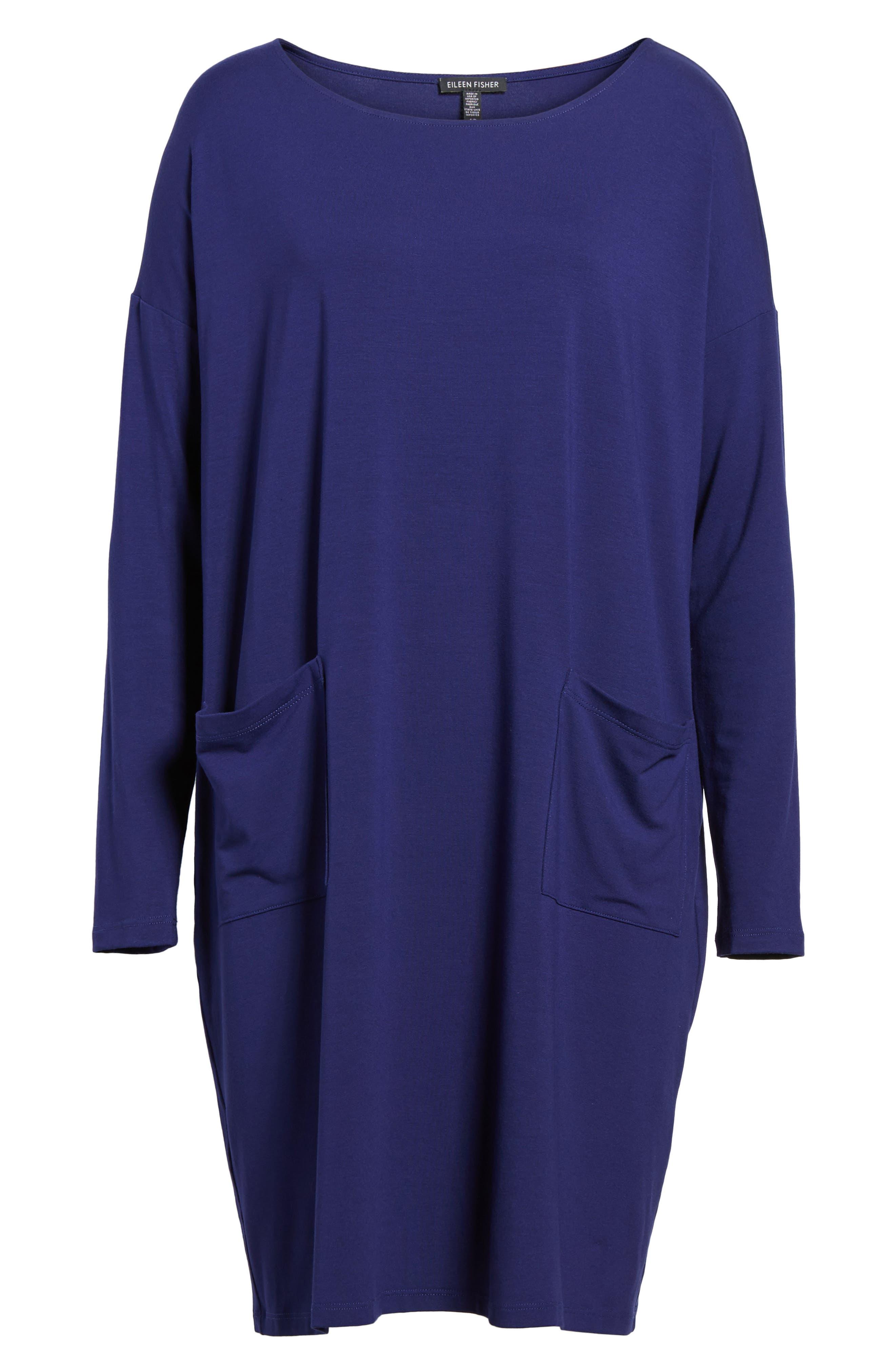 Jersey Ballet Neck Shift Dress,                         Main,                         color, Ultramarine