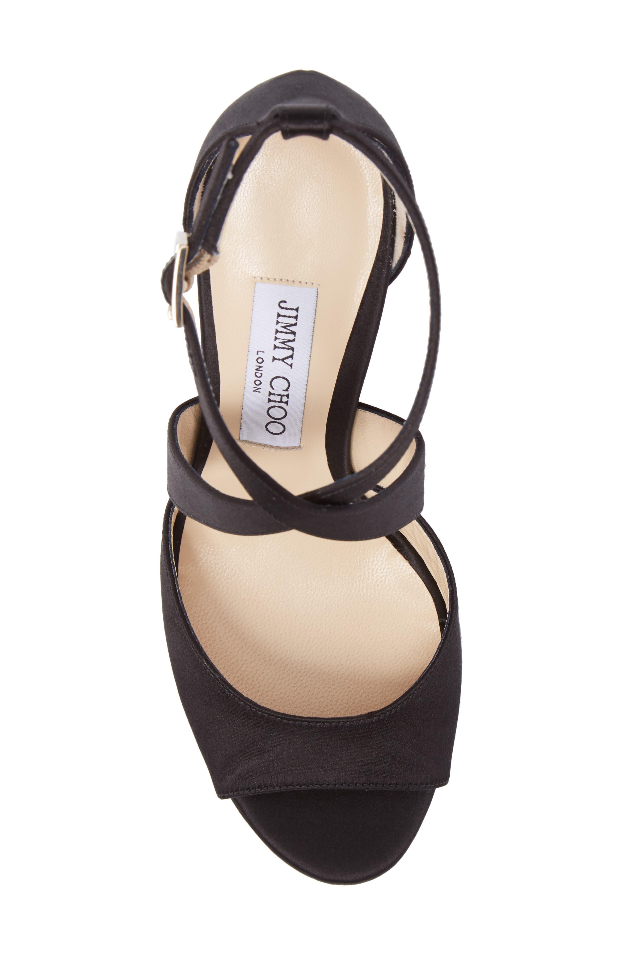 April Platform Sandal,                             Alternate thumbnail 5, color,                             Black/ Anthracite/ Black