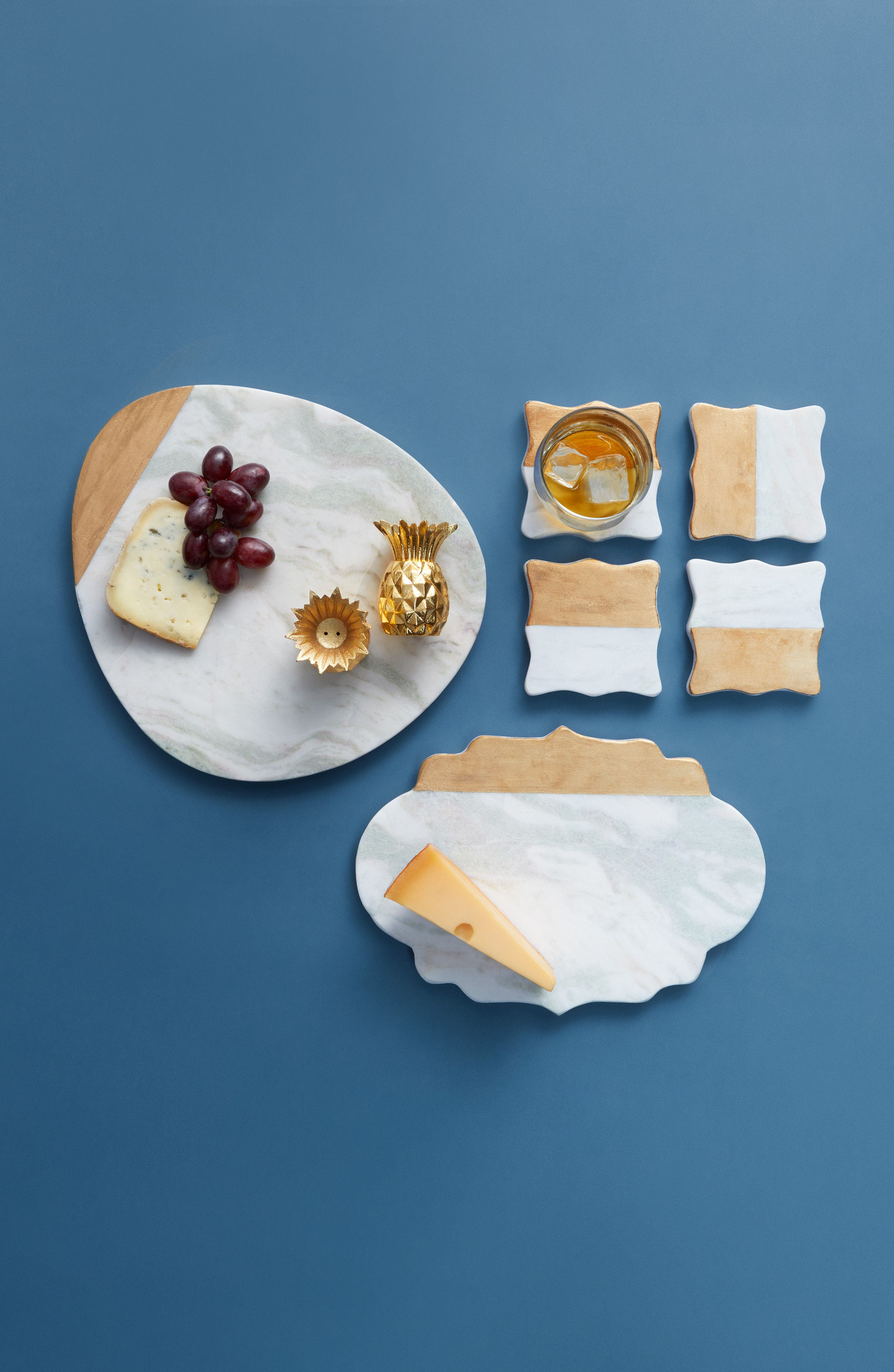 Alternate Image 2  - Nordstrom at Home Set of 4 Marble Coasters