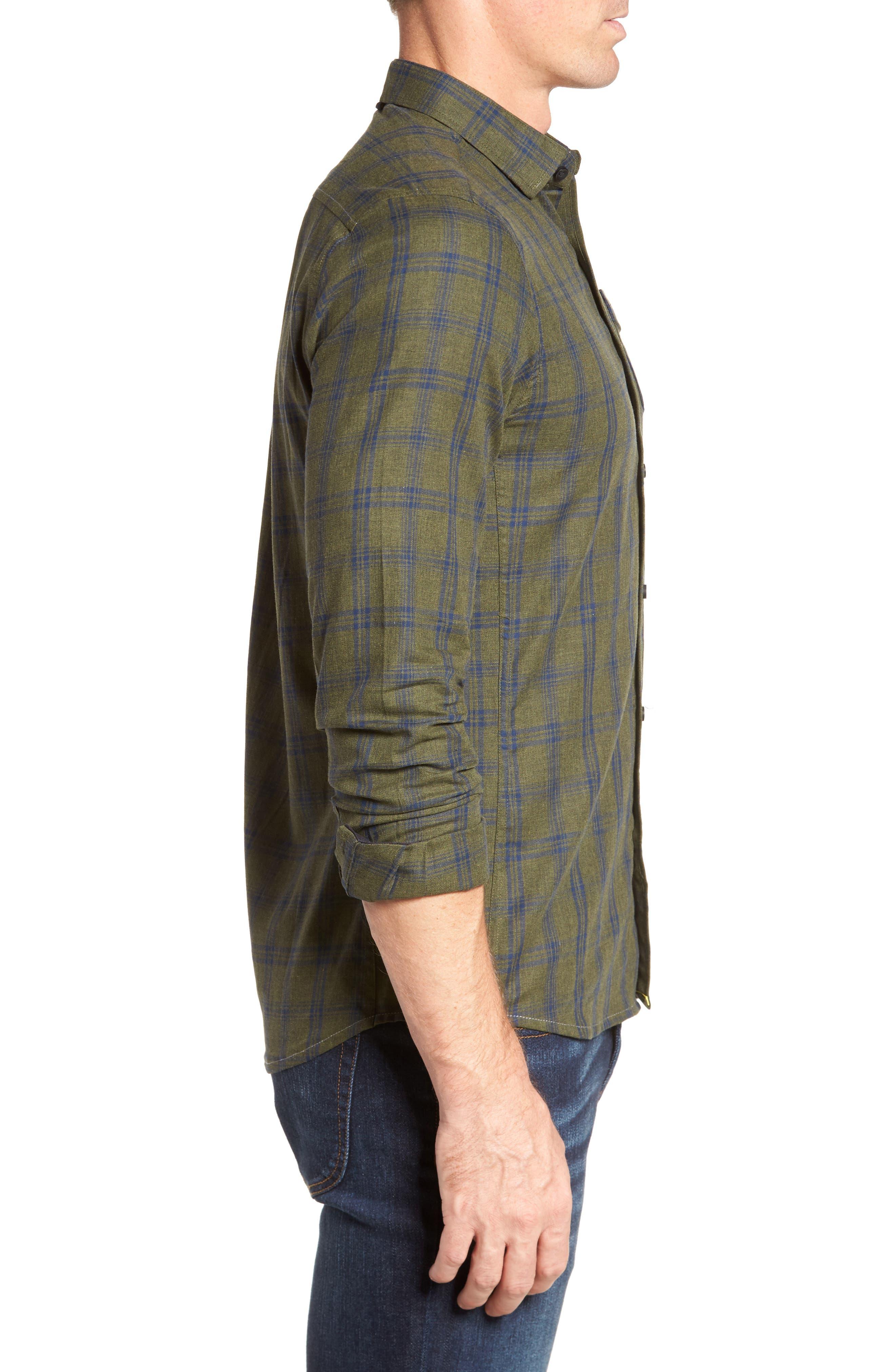 Alternate Image 3  - Descendant of Thieves Vintage Army Plaid Sport Shirt