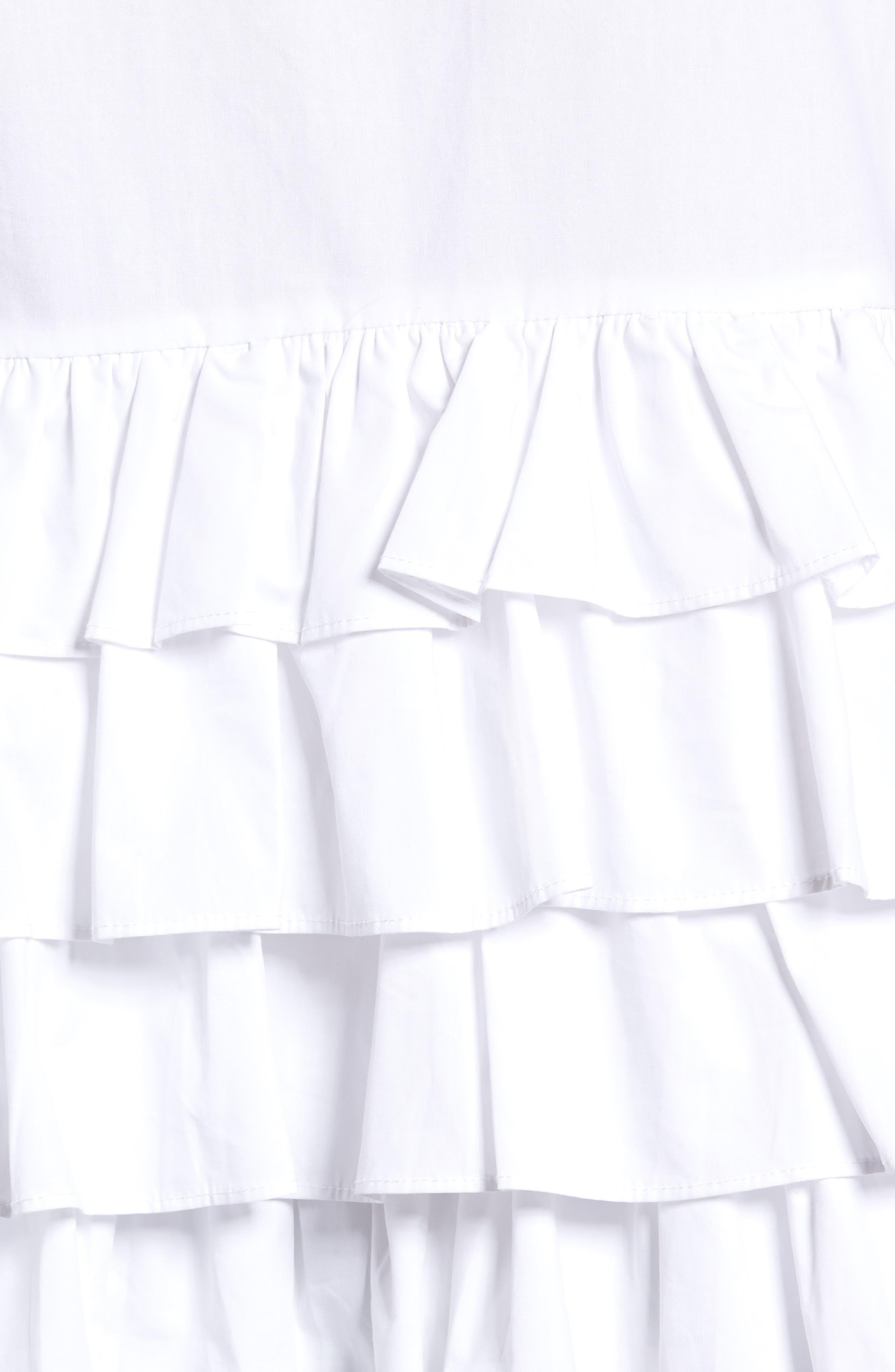 Alternate Image 6  - LOST INK Ruffle Hem Shirt
