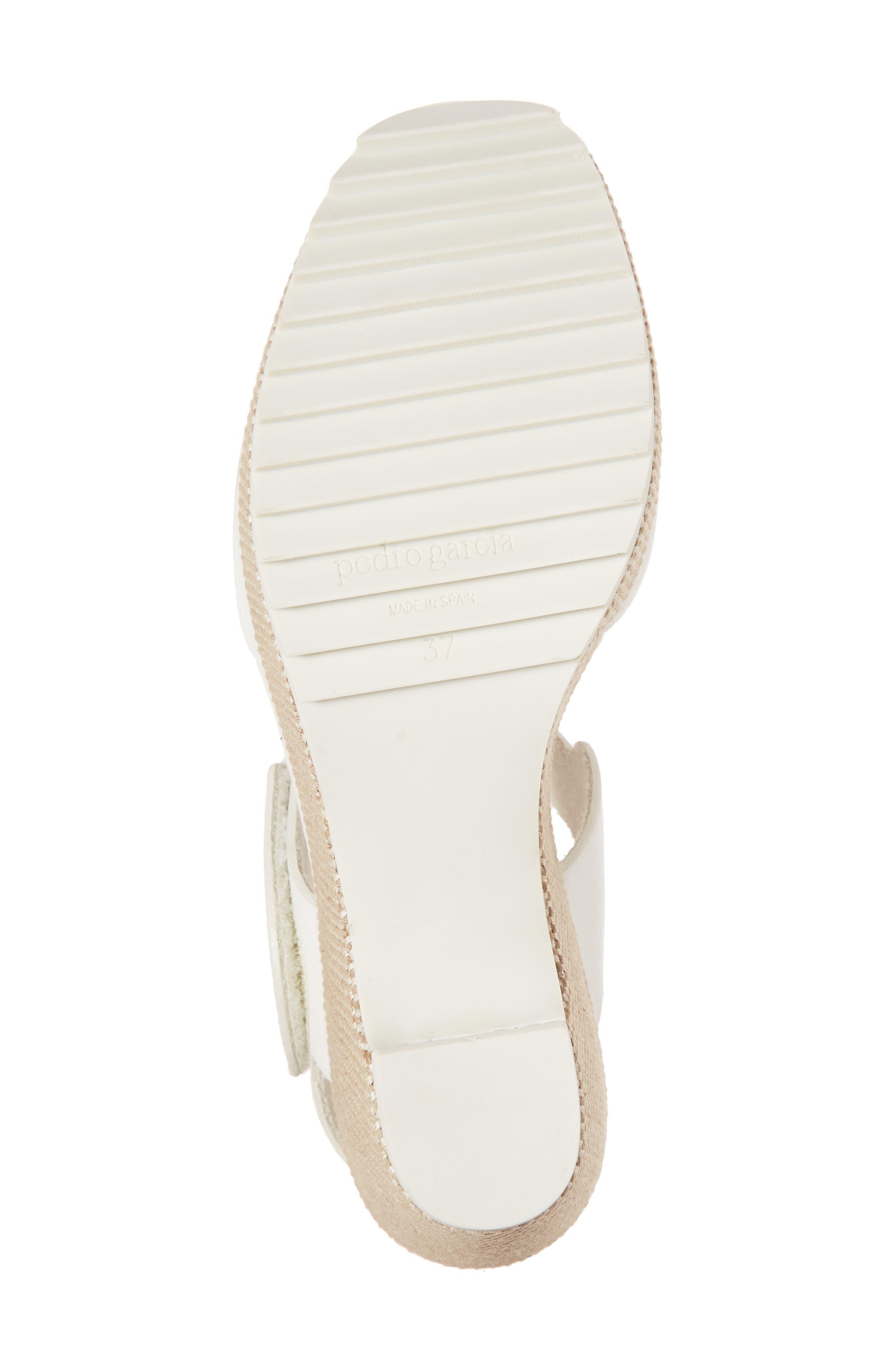 Fah Wedge Sandal,                             Alternate thumbnail 6, color,                             White Cervo