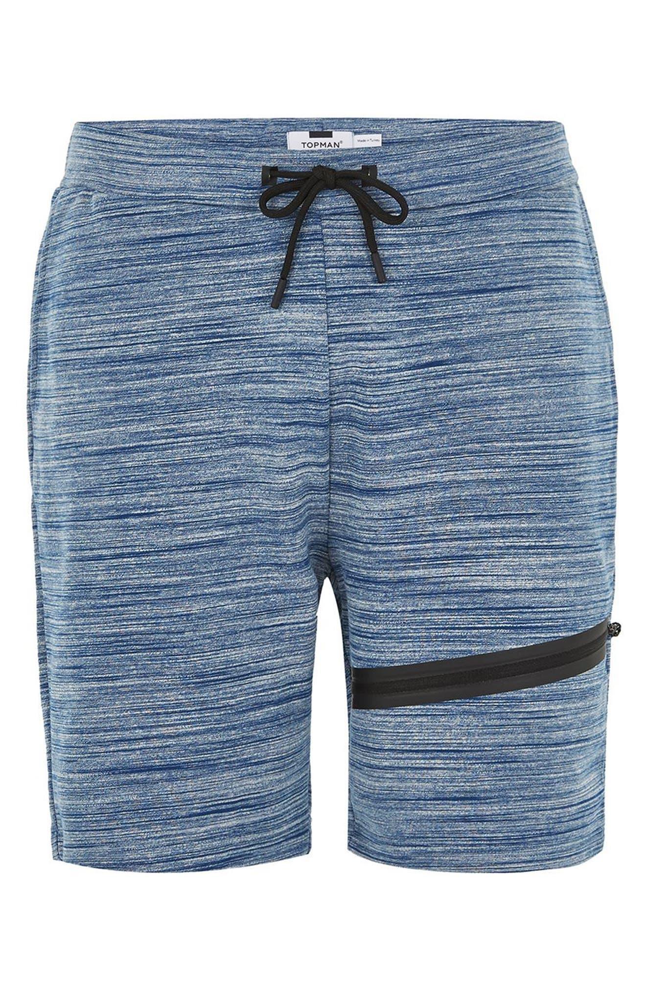 Space Dye Tech Shorts,                             Alternate thumbnail 4, color,                             Mid Blue