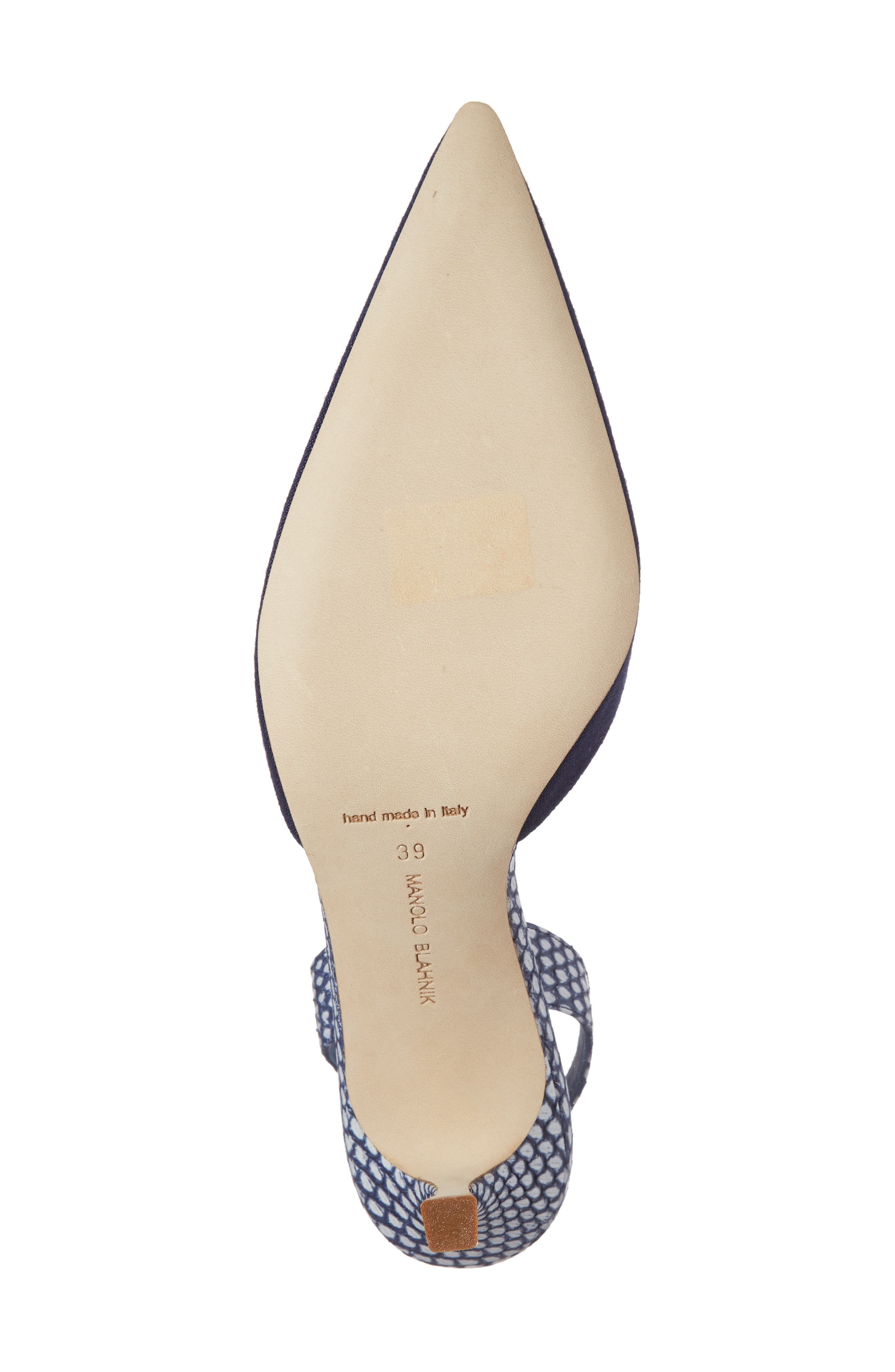 Carolyne Slingback Pump,                             Alternate thumbnail 6, color,                             Navy