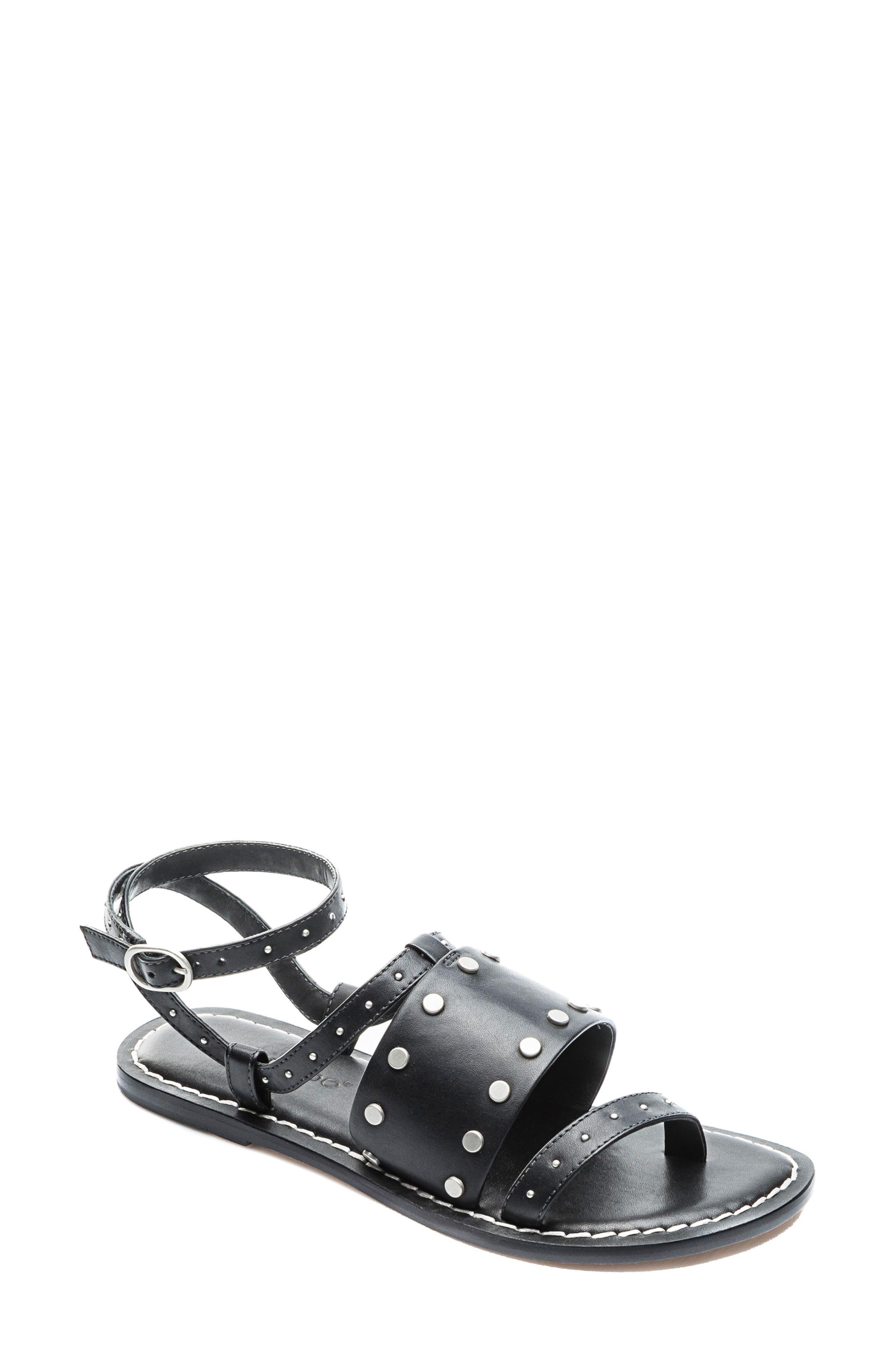 Bernardo Maisa Sandal,                             Main thumbnail 1, color,                             Black Leather