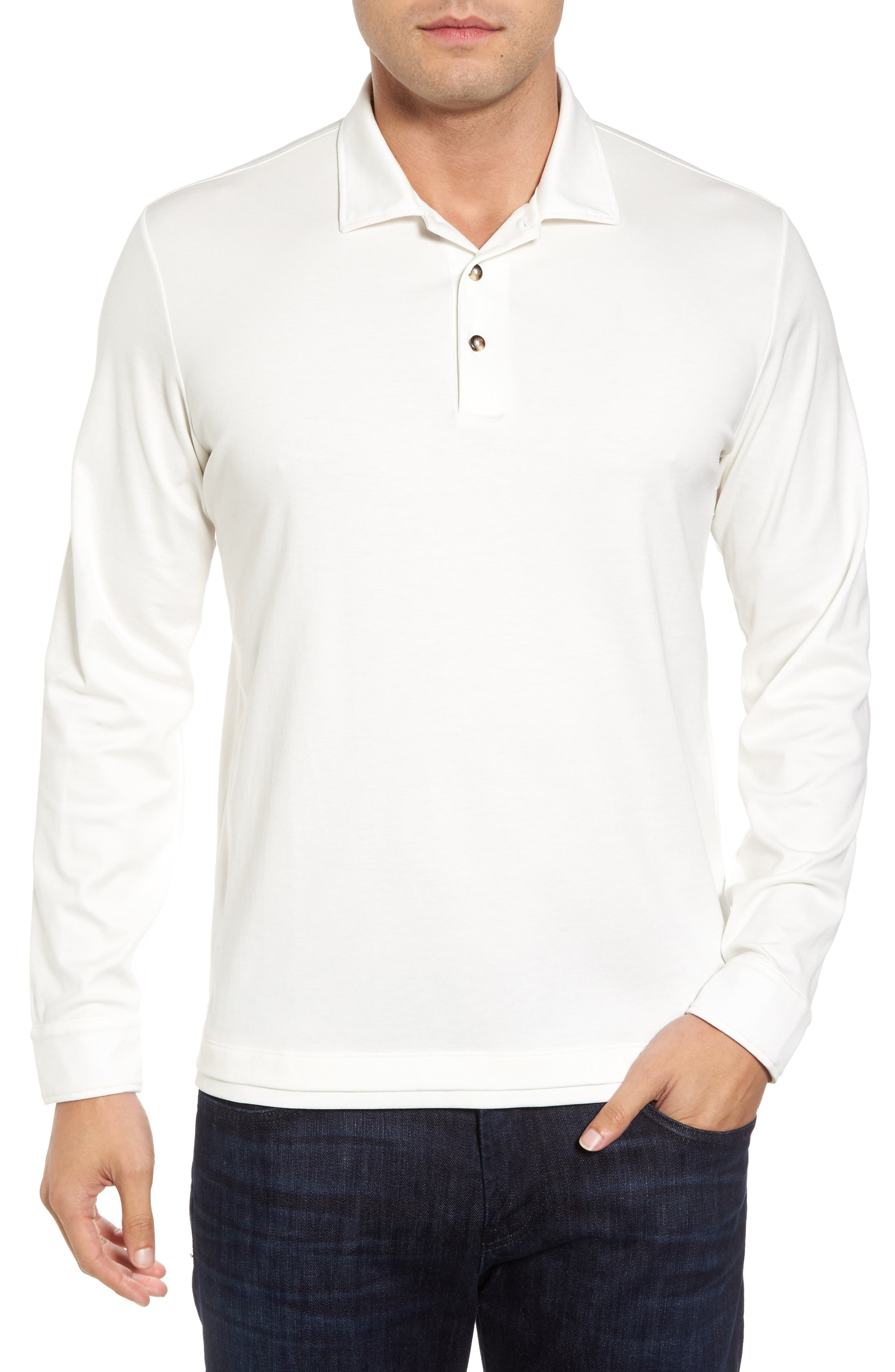 Interlock Polo,                             Main thumbnail 1, color,                             White
