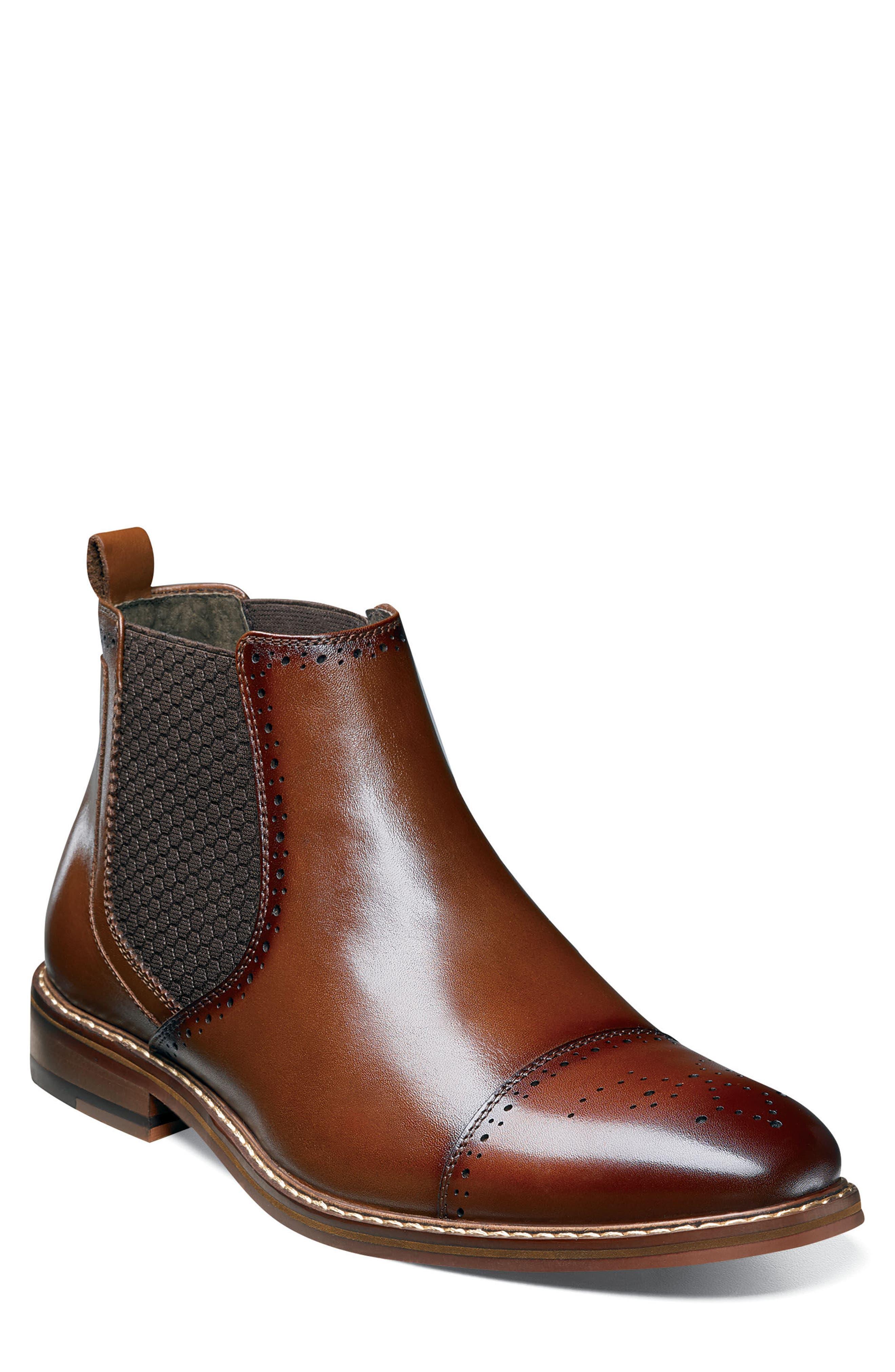 Alomar Chelsea Boot,                         Main,                         color, Cognac Leather