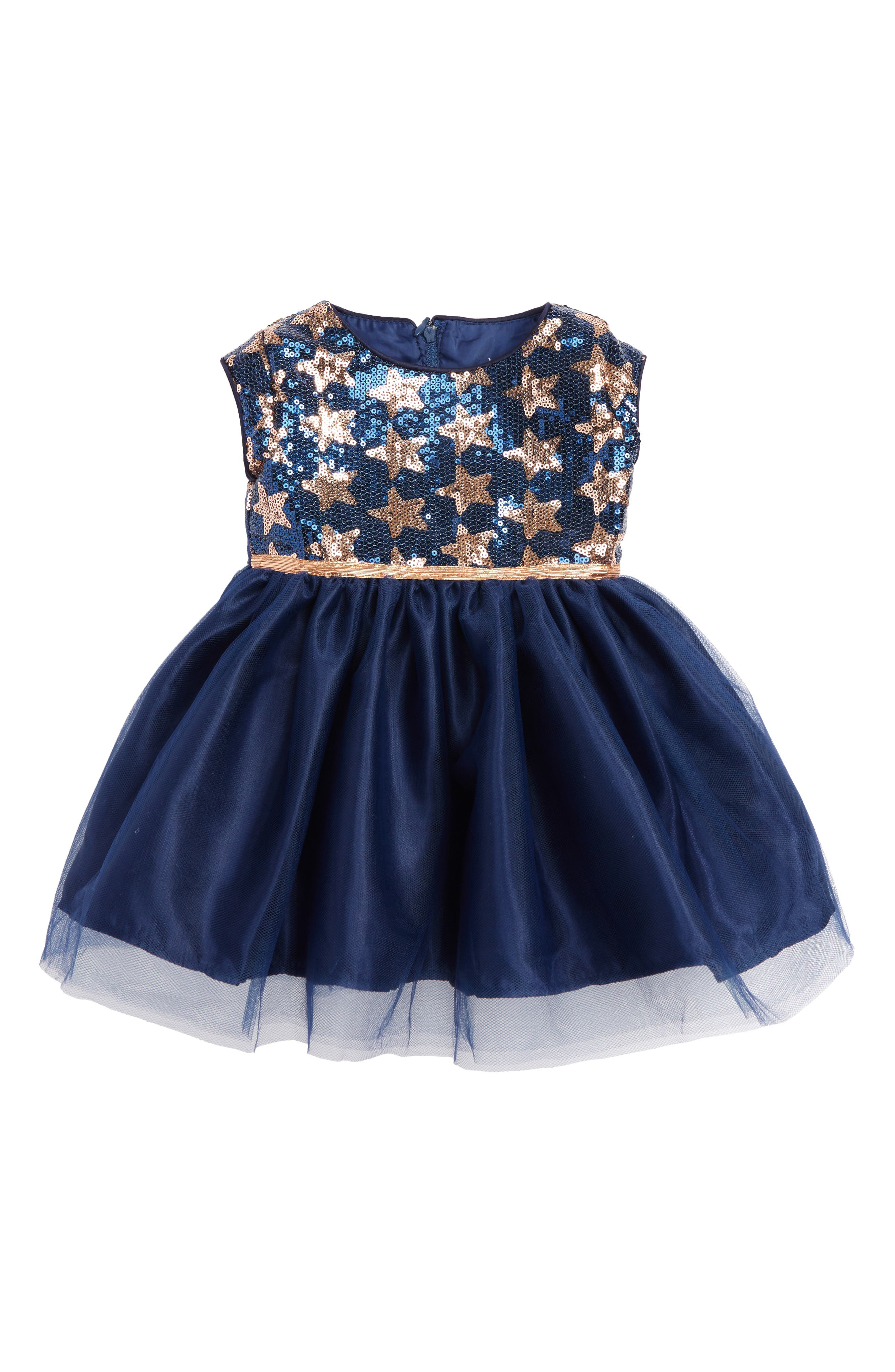 Dorissa Lily Sequin Tulle Dress (Baby Girls)