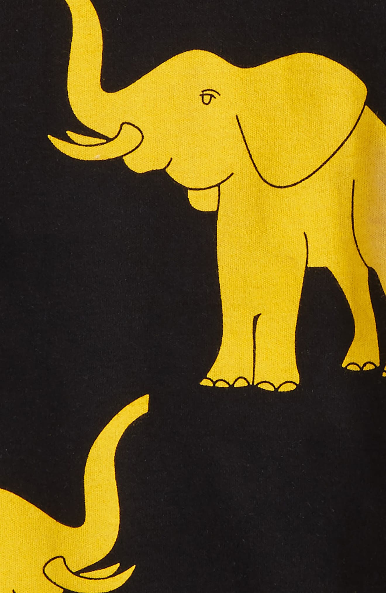 Alternate Image 2  - Masalababy Elephant Organic Cotton Fitted Two-Piece Pajamas (Toddler Boys, Little Boys & Big Boys)