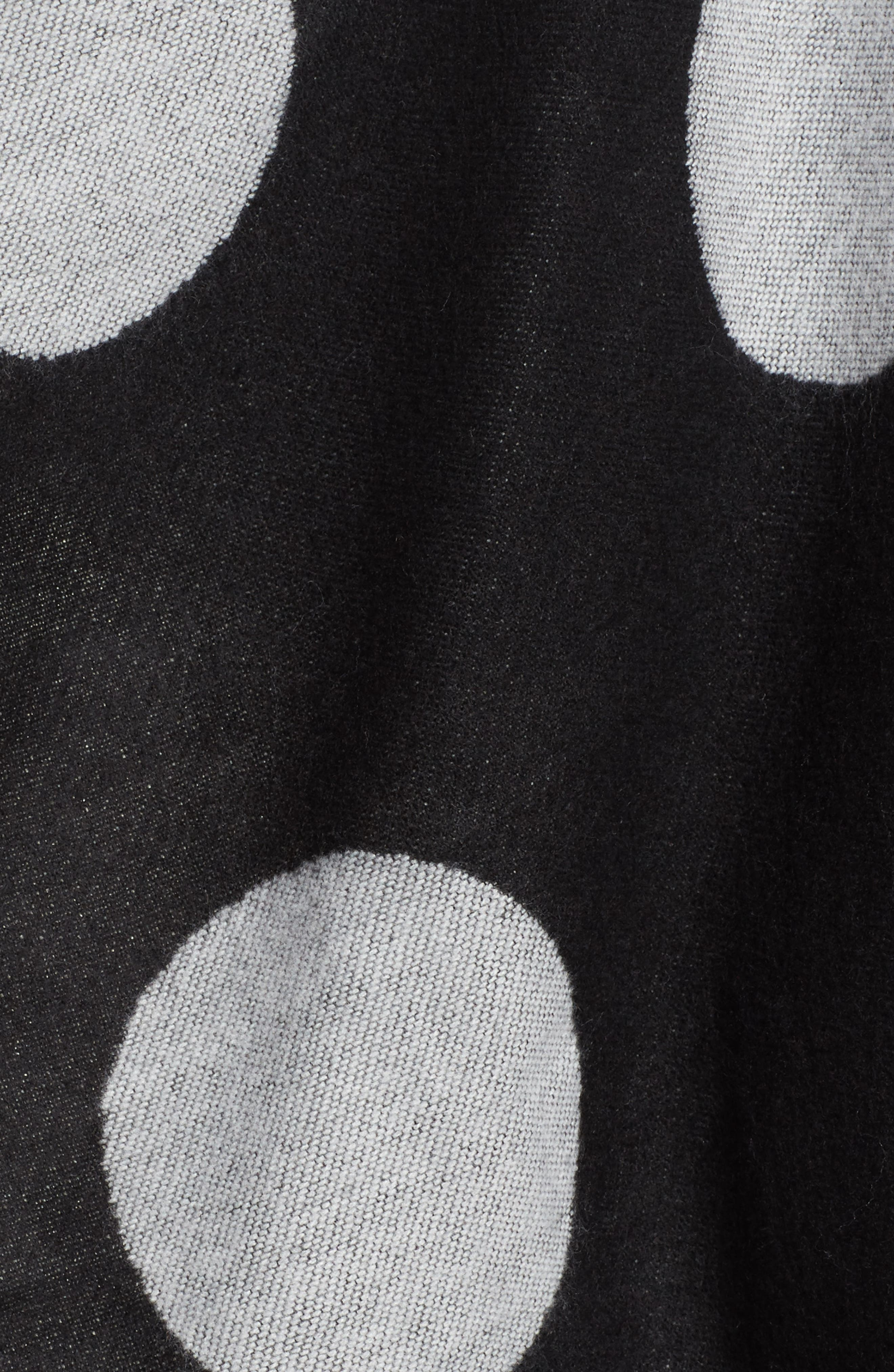 Polka Dot Ruana,                             Alternate thumbnail 5, color,                             Black/ Ivory