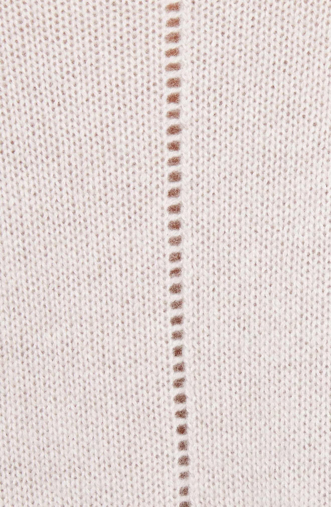 Tie Hem Cashmere Sweater,                             Alternate thumbnail 5, color,                             Bone