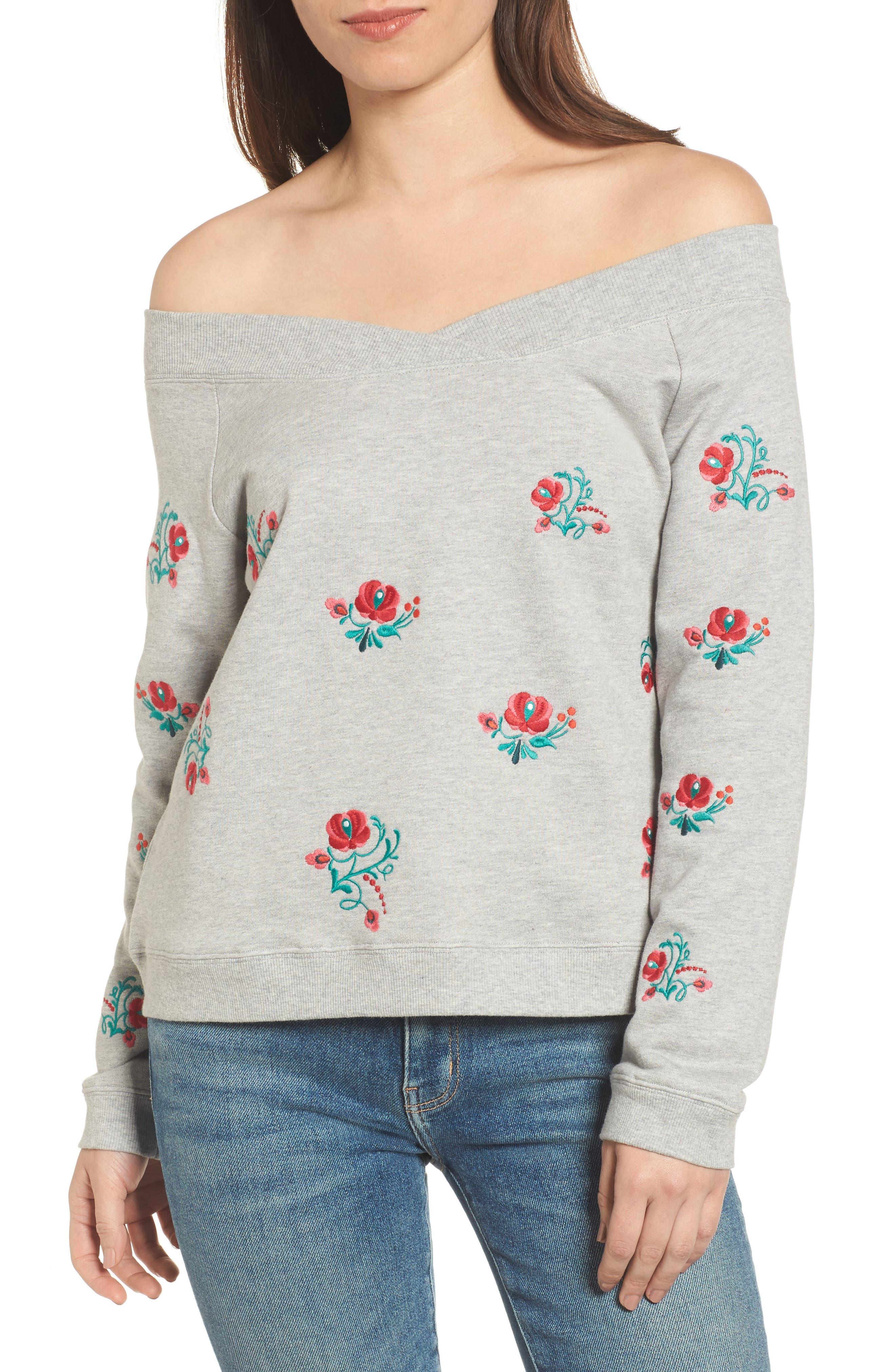 Rebecca Minkoff Macey Off the Shoulder Sweatshirt