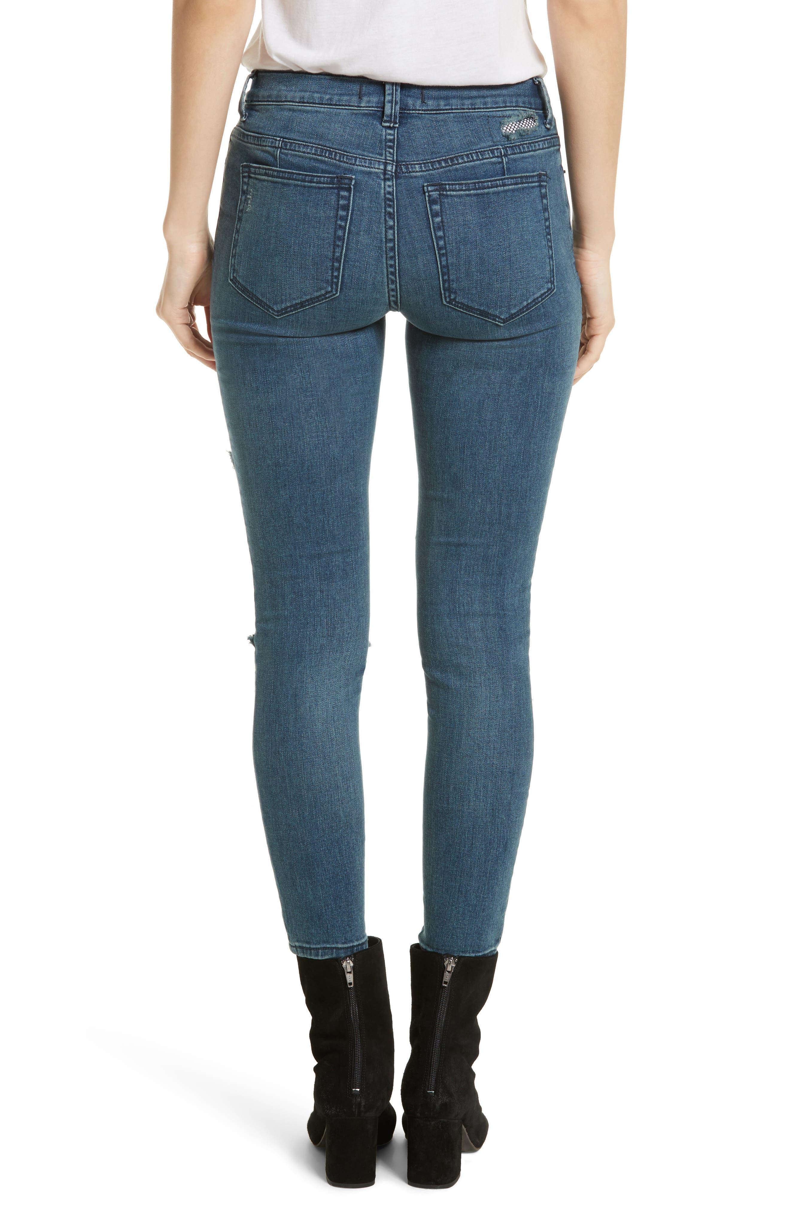 Alternate Image 2  - Free People Fishnet Skinny Jeans