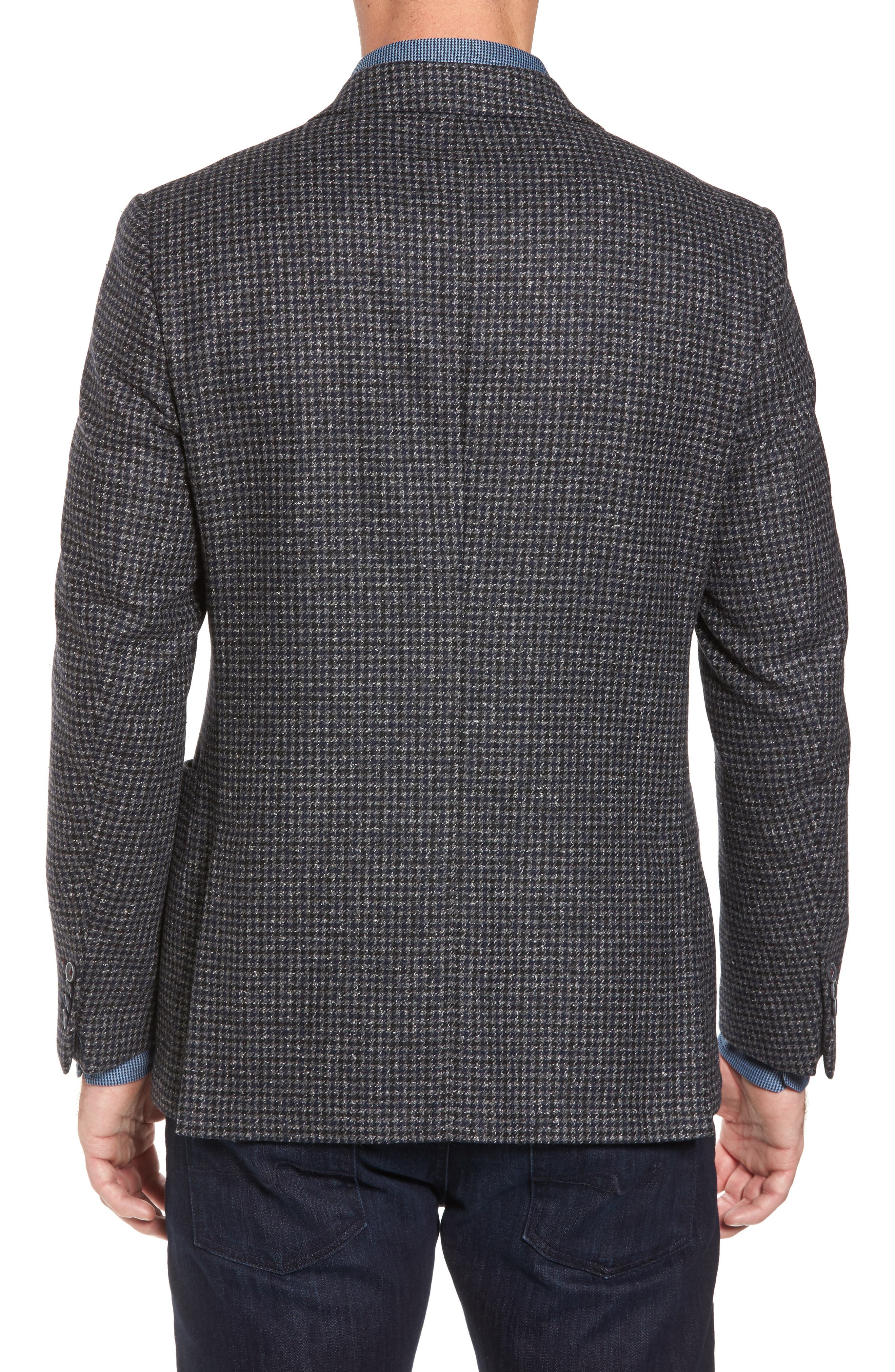 Alternate Image 2  - Bugatchi Wool Blend Houndstooth Blazer