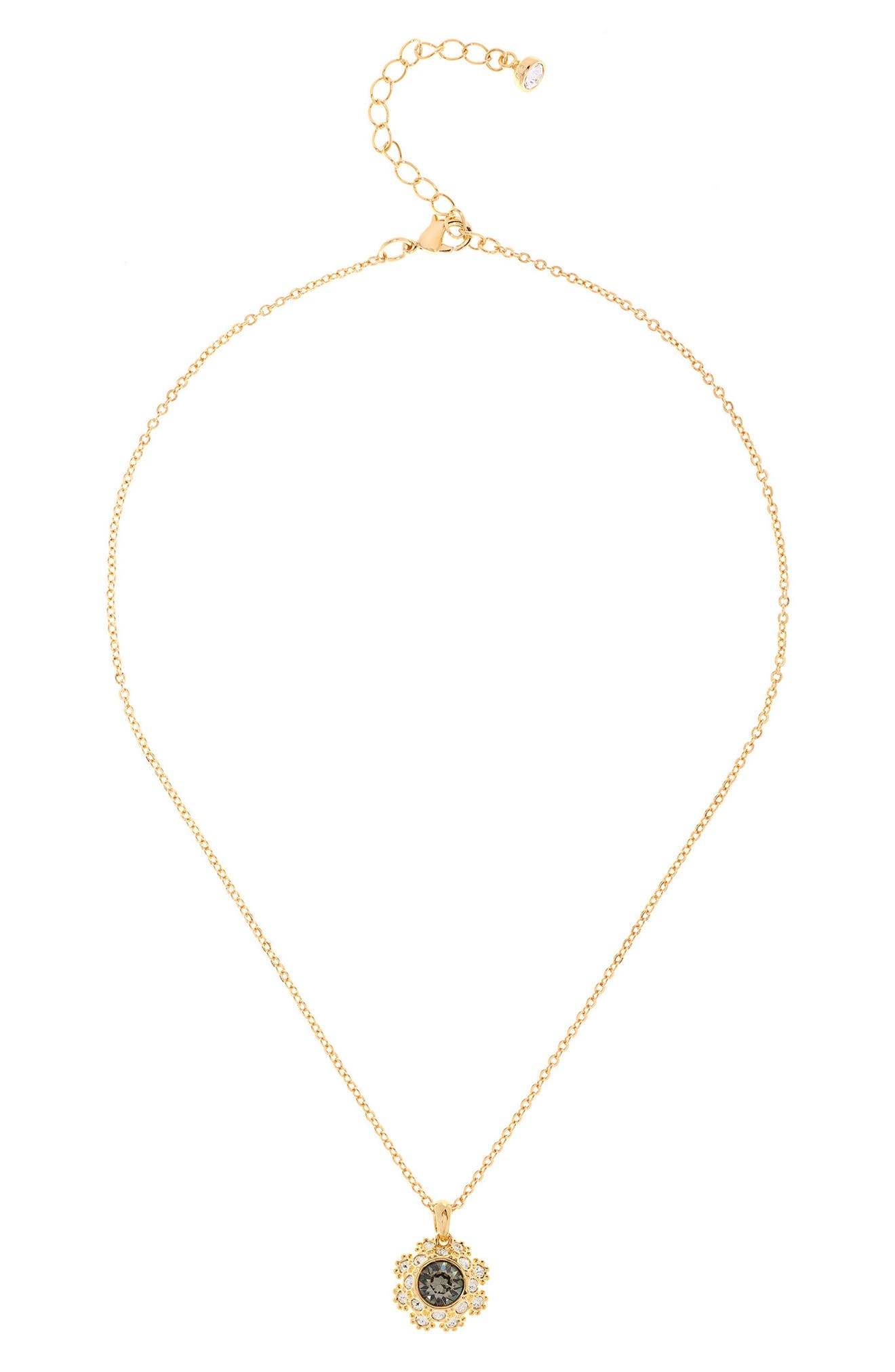 Main Image - Ted Baker London Crystal Daisy Lace Pendant Necklace