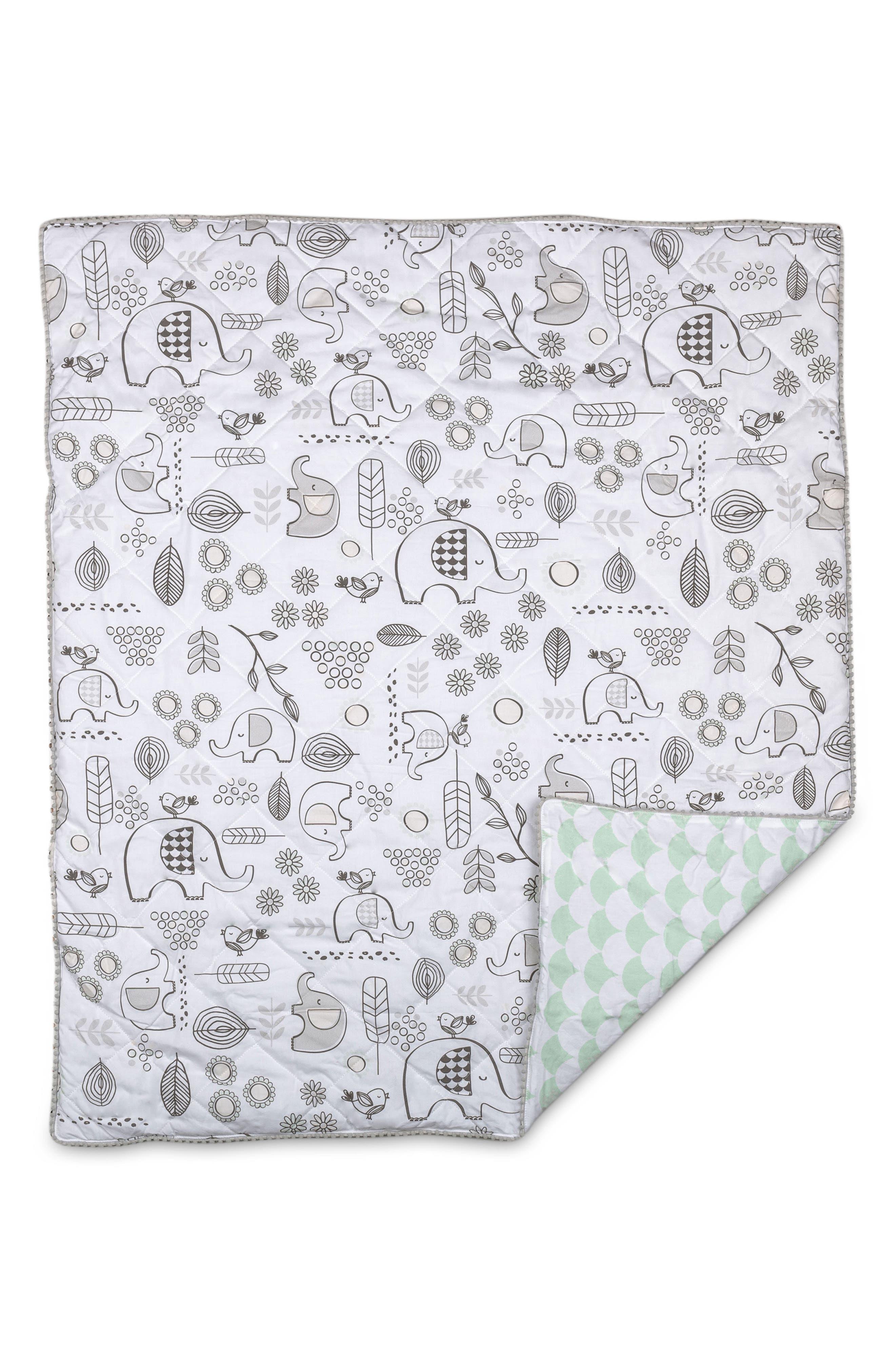 Elle Elephant 4-Piece Crib Bedding Set,                             Alternate thumbnail 4, color,                             Kayden - Elle Elephant