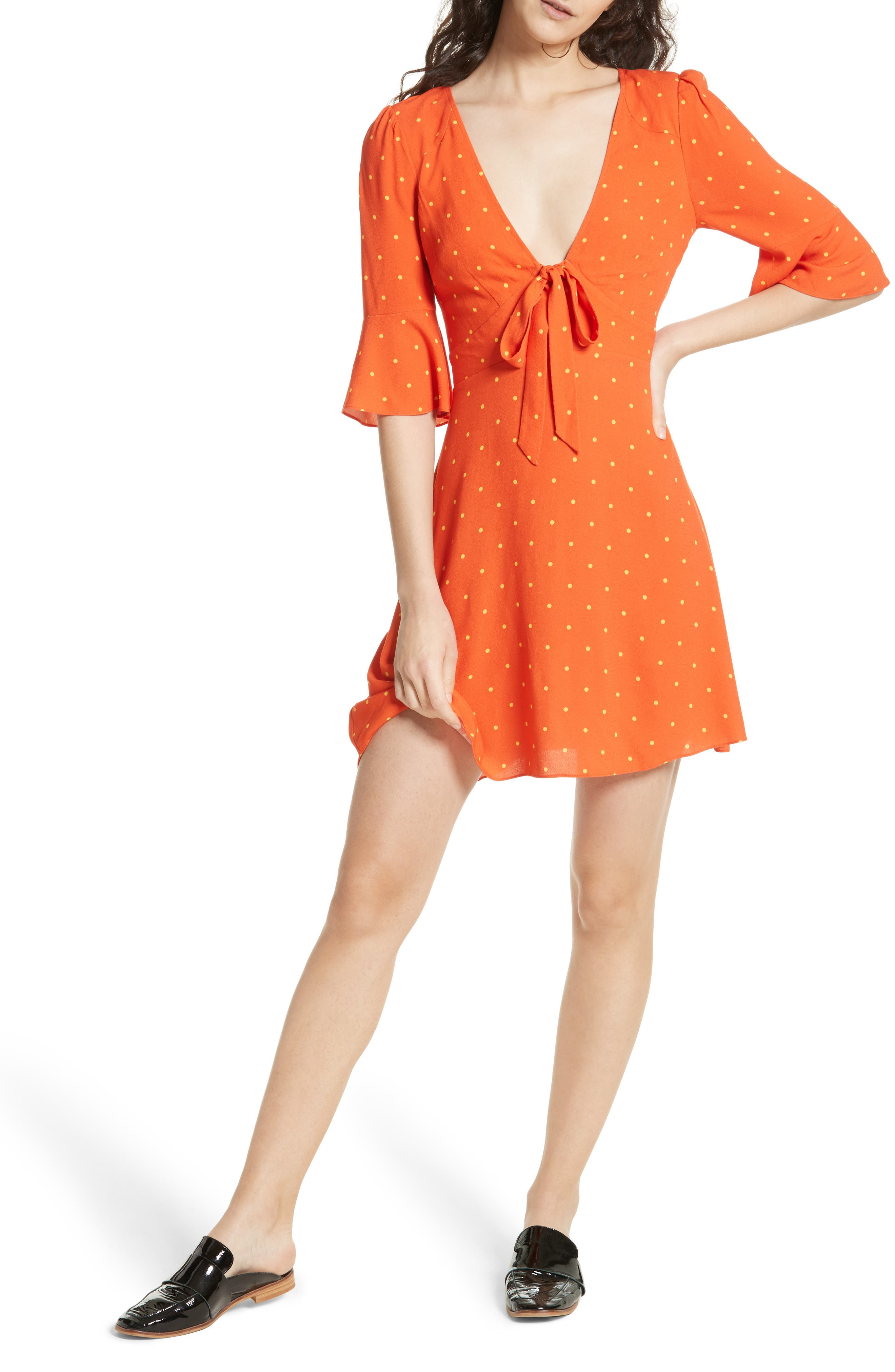 All Yours Minidress,                         Main,                         color, Red Combo