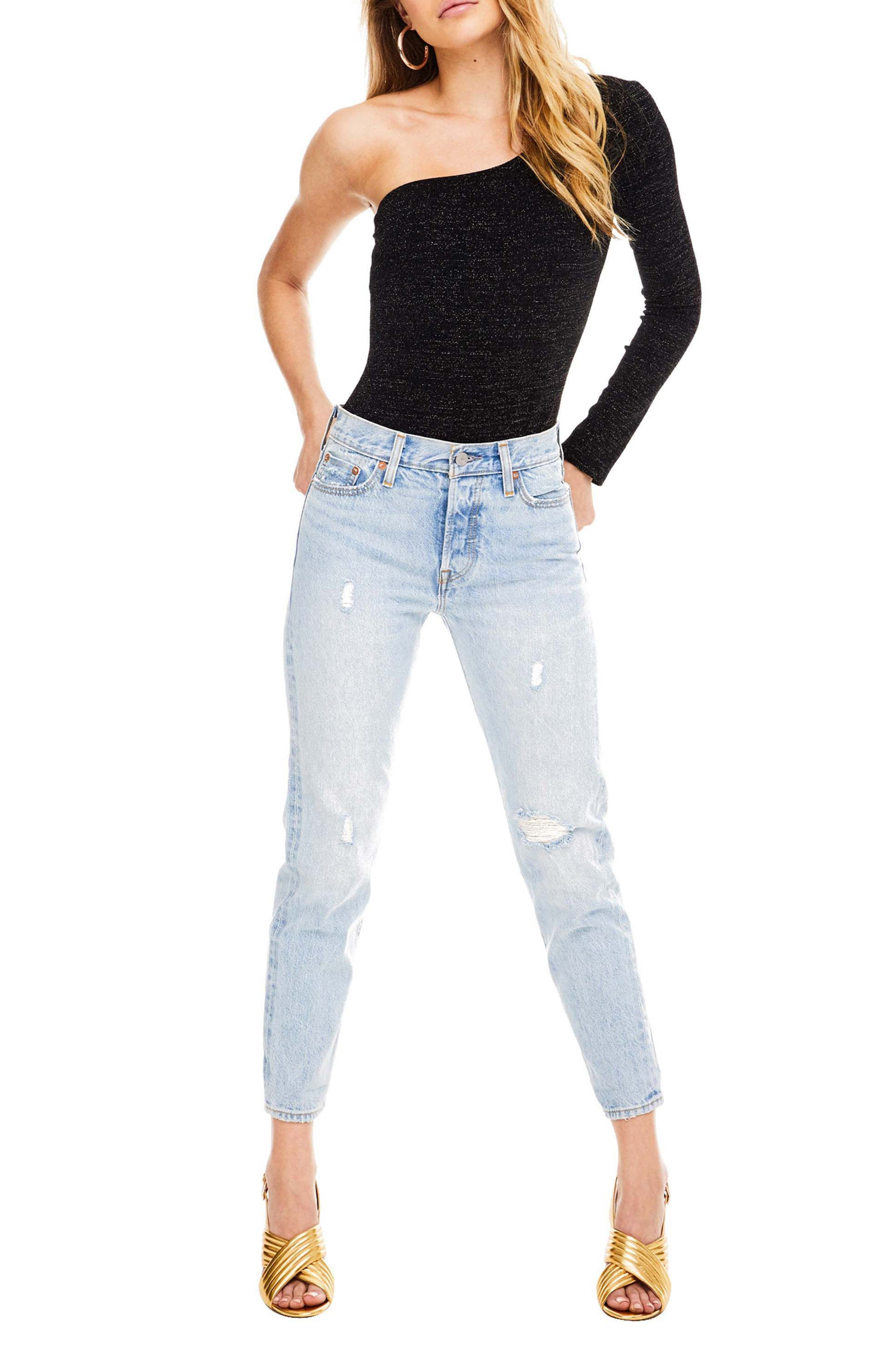 Alina Bodysuit,                         Main,                         color, Black Sparkle