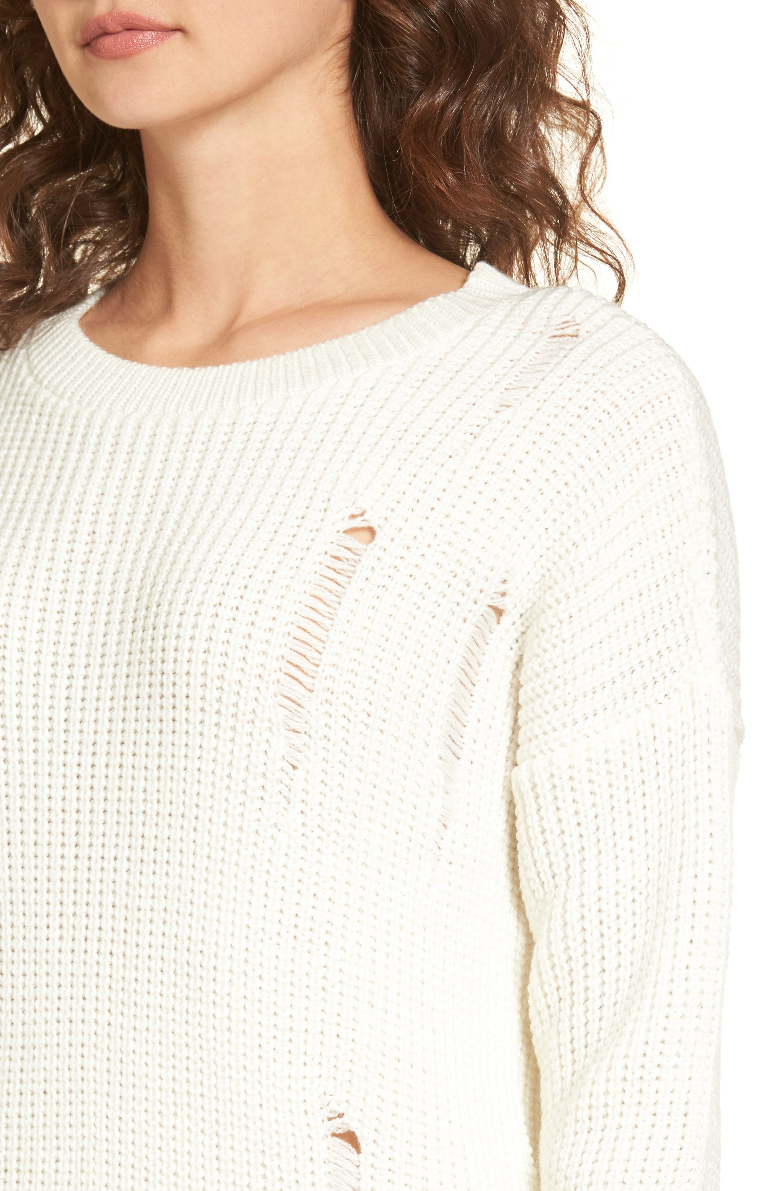 Alternate Image 4  - Cotton Emporium Distressed Sweater Dress