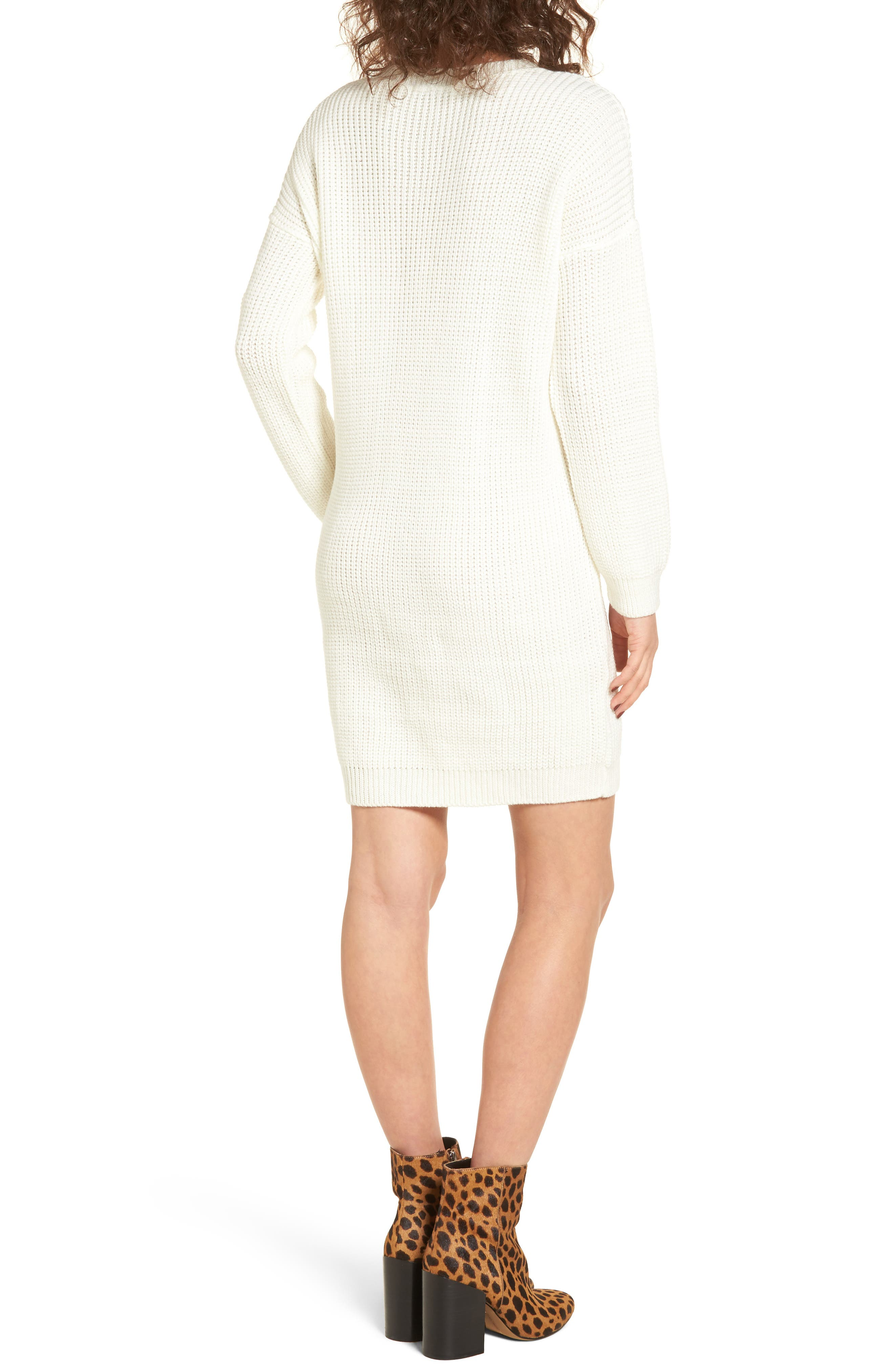 Alternate Image 2  - Cotton Emporium Distressed Sweater Dress