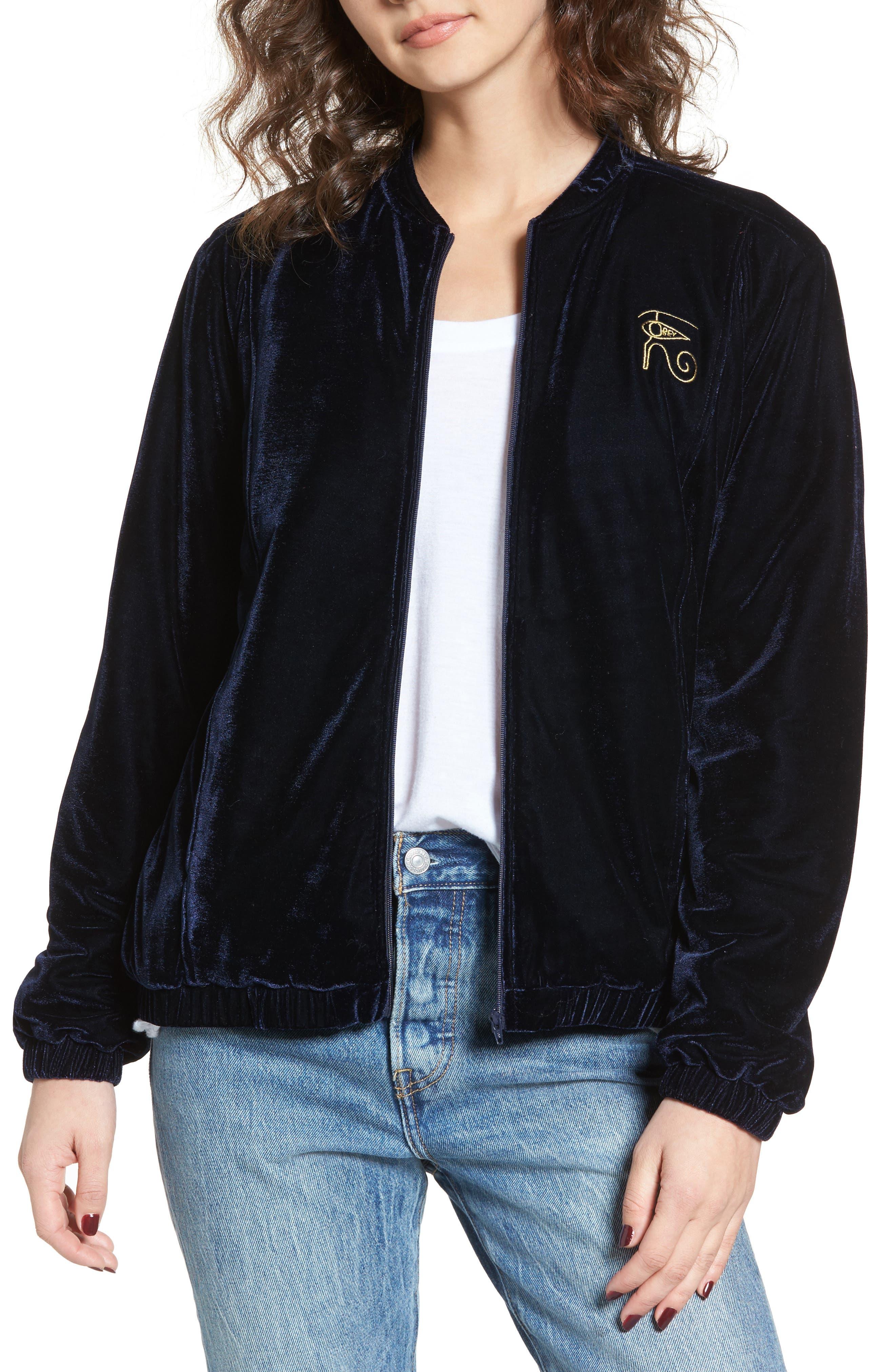 Main Image - Obey Spades Velvet Jacket