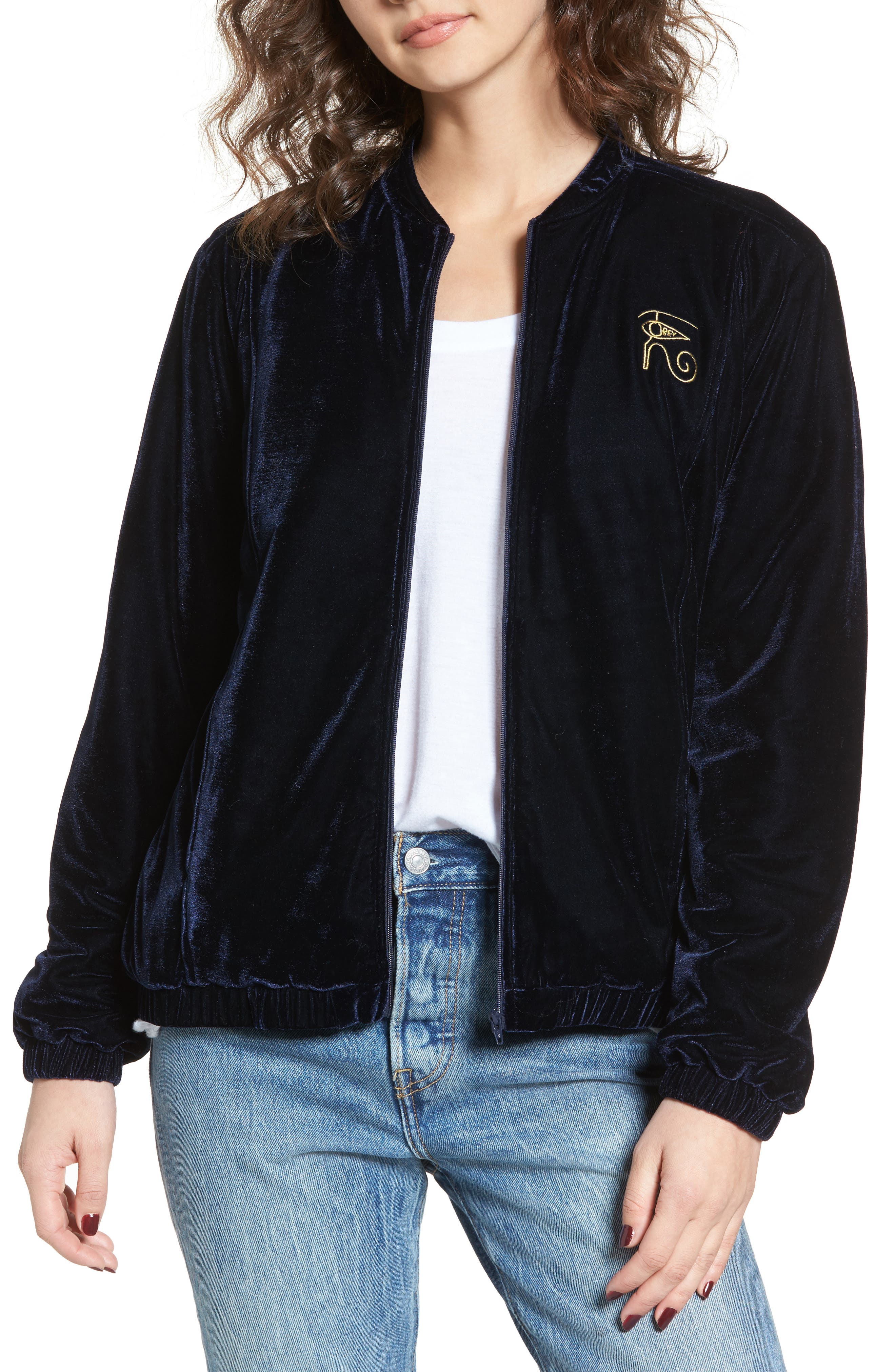 Obey Spades Velvet Jacket