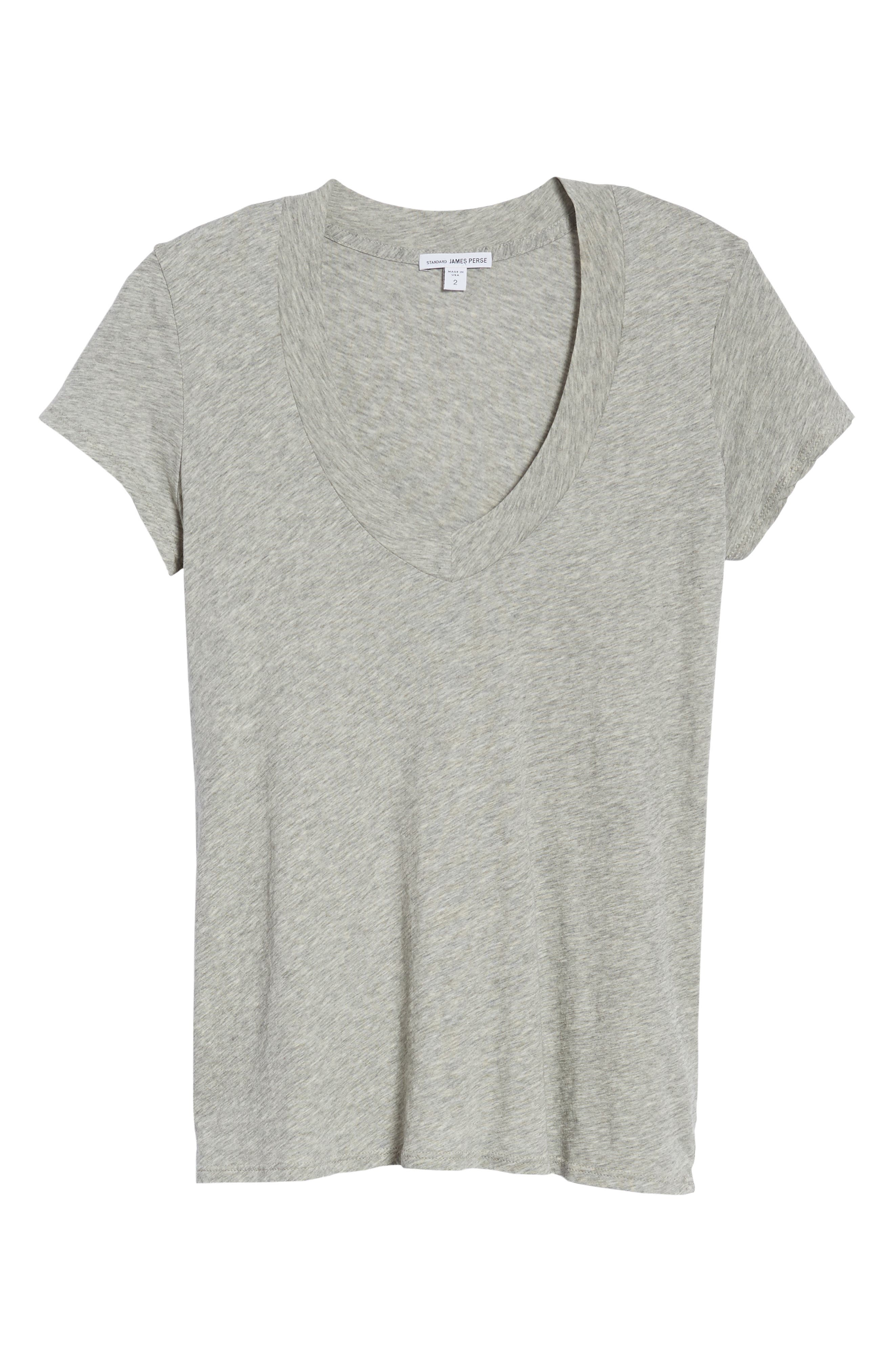 Alternate Image 6  - James Perse Relaxed V-Neck Tee