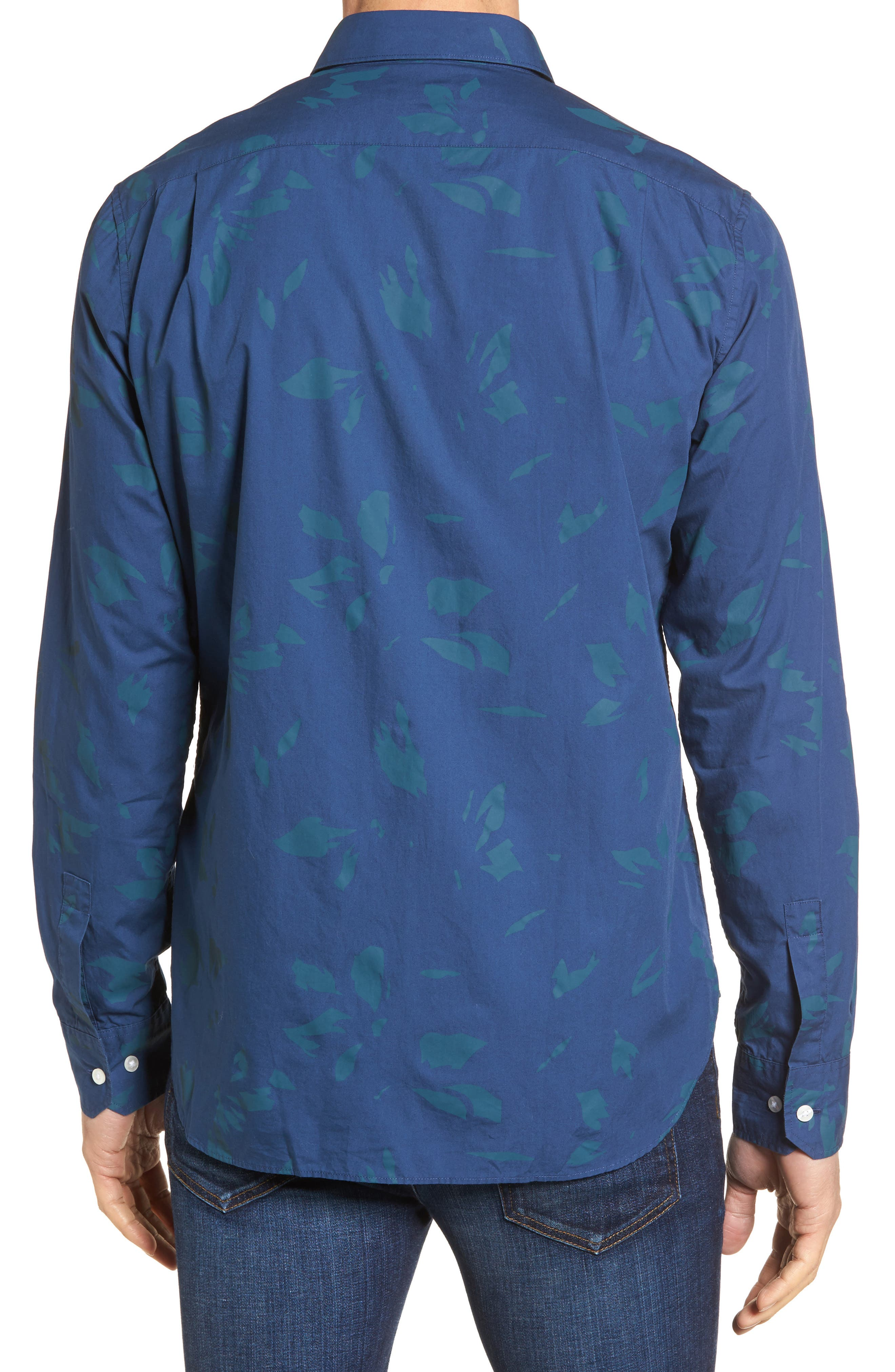 Alternate Image 2  - Bonobos Unbutton Down Slim Fit Abstract Print Sport Shirt