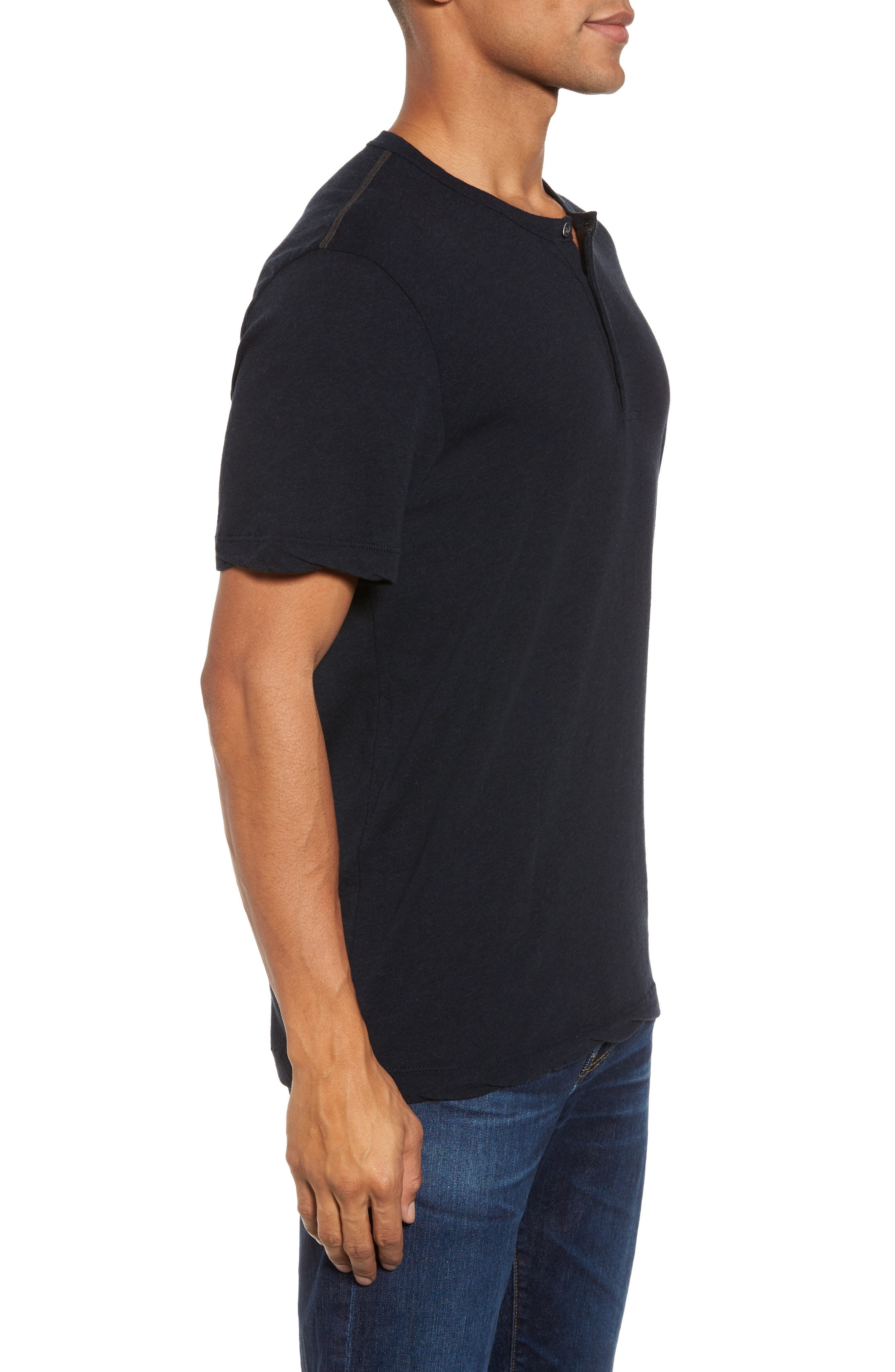 Alternate Image 3  - James Perse Contrast Stitch Henley T-Shirt