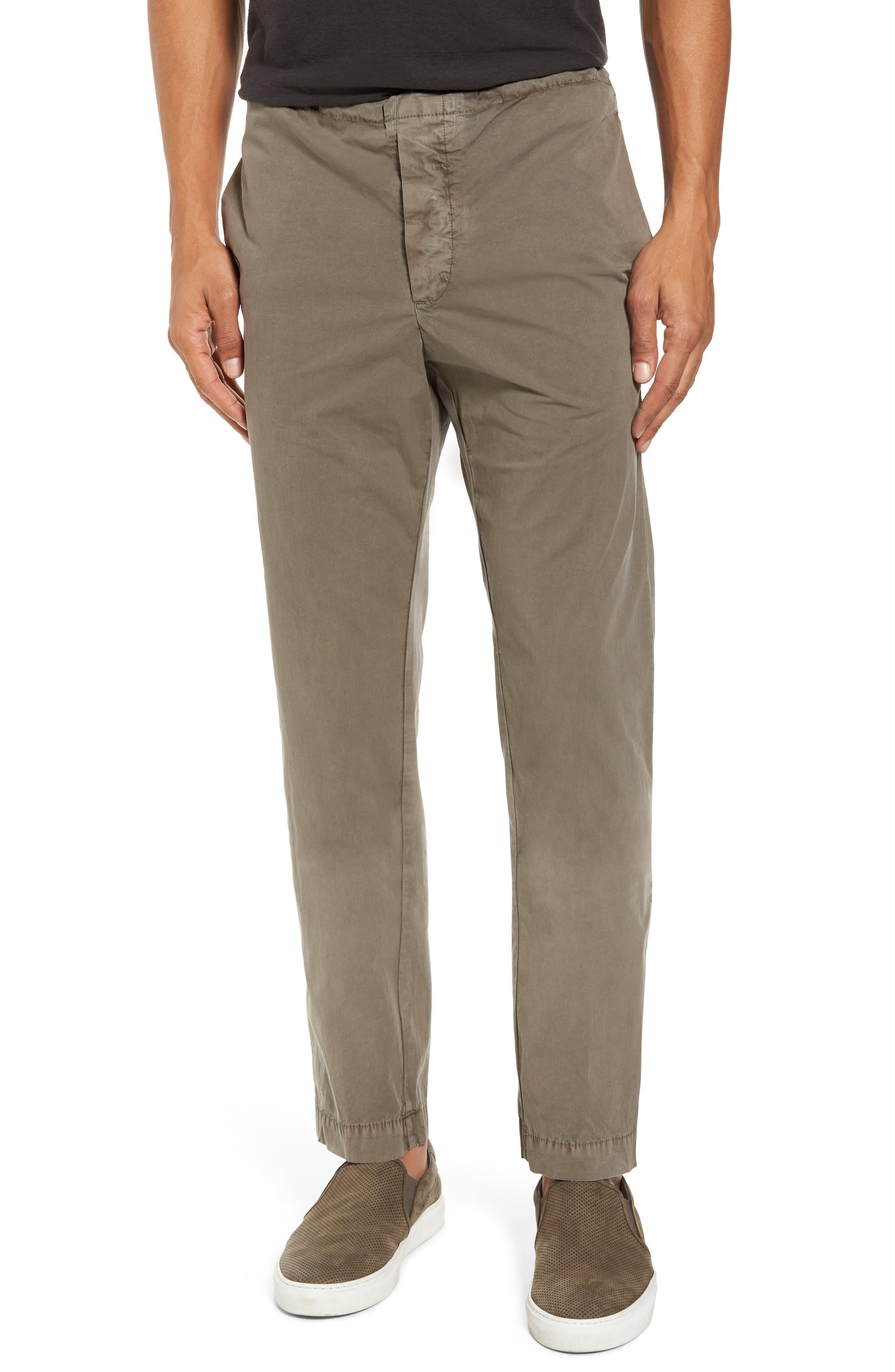 Slim Stretch Poplin Drawcord Pants,                             Main thumbnail 1, color,                             Greystone Pigment